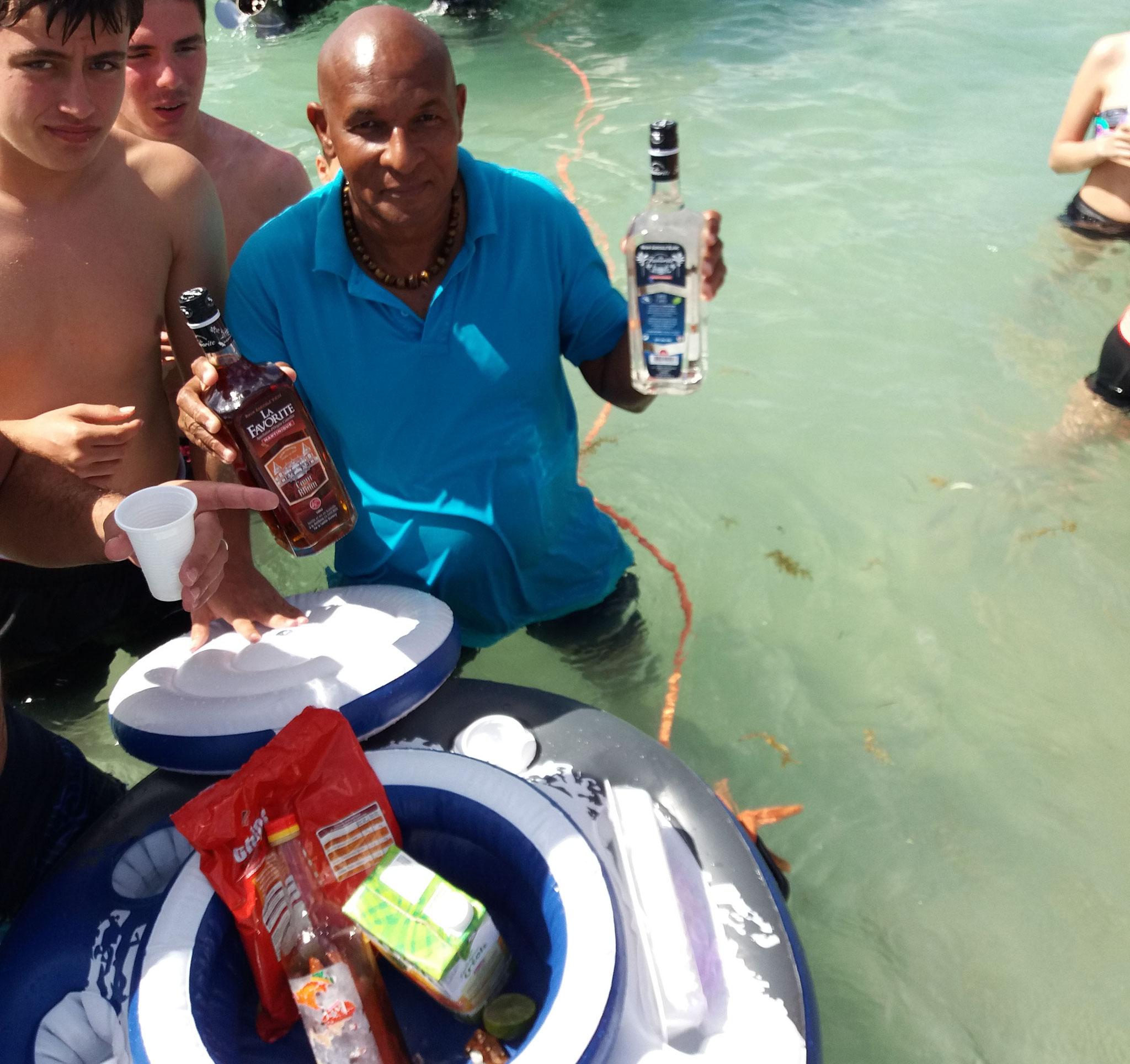 Baignoire de Joséphine Martinique - Balade en mer avec le Capitaine Romule