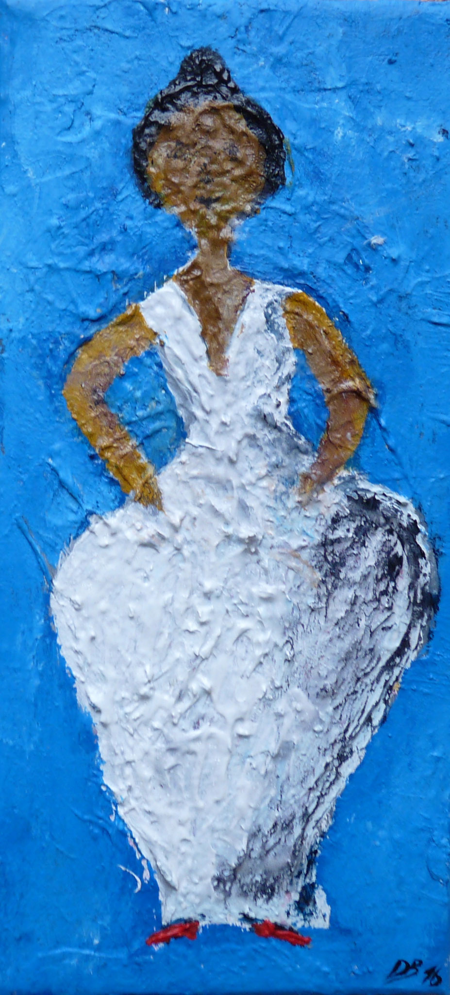 Acryl Frau 10 x 20