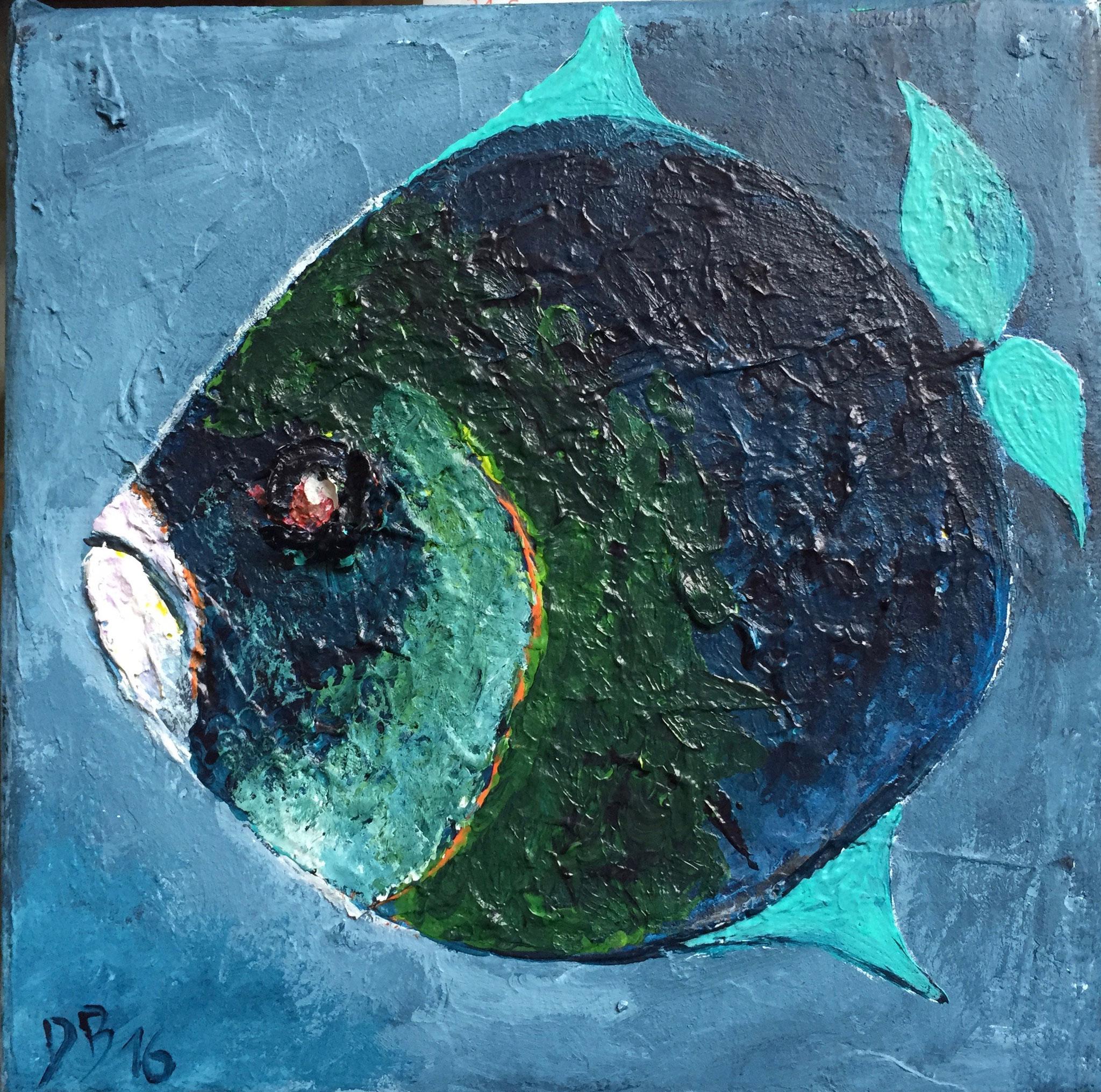 Acryl Fisch 12.5 x 12.5