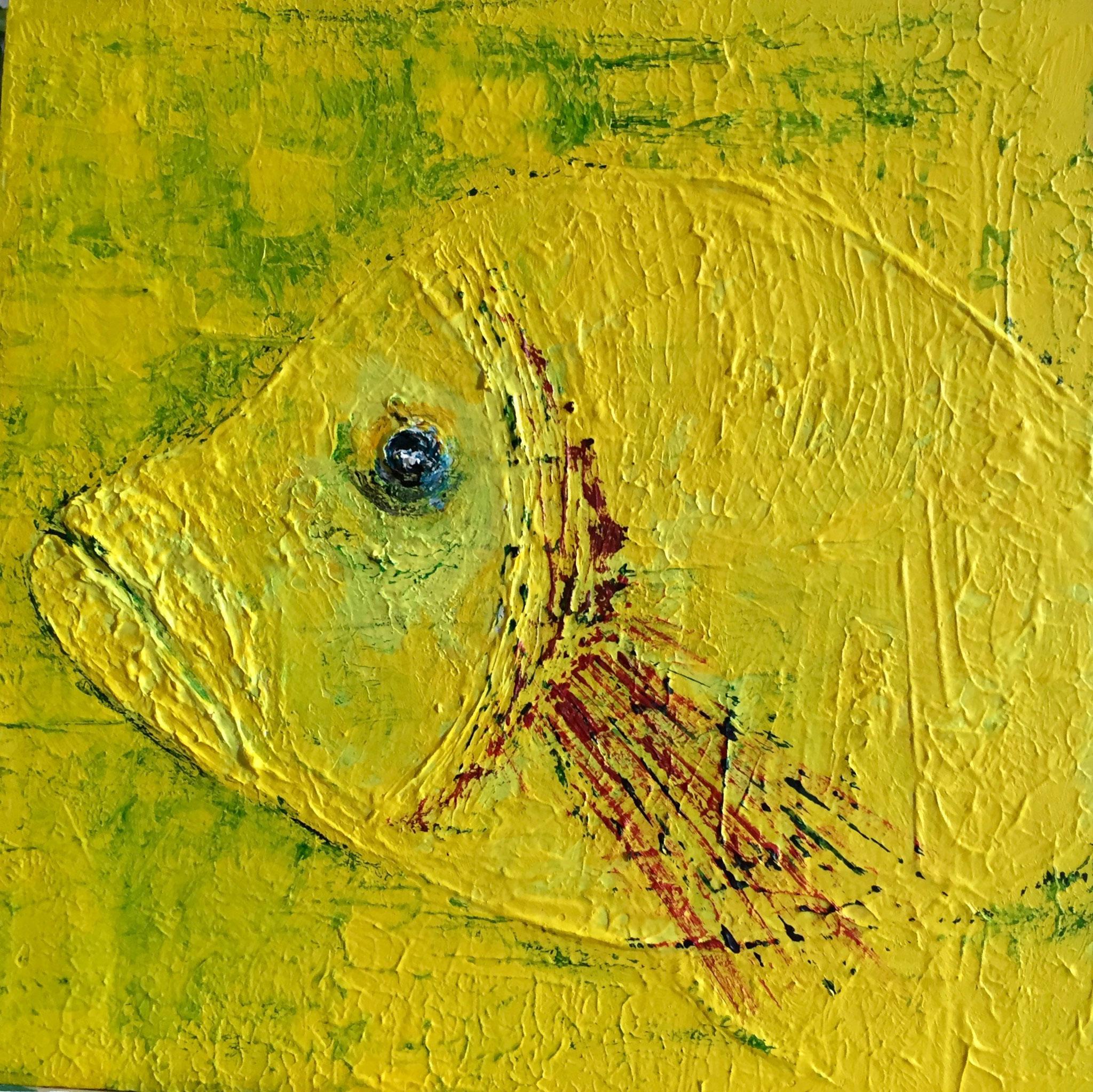 Acryl Fisch 28 x 28