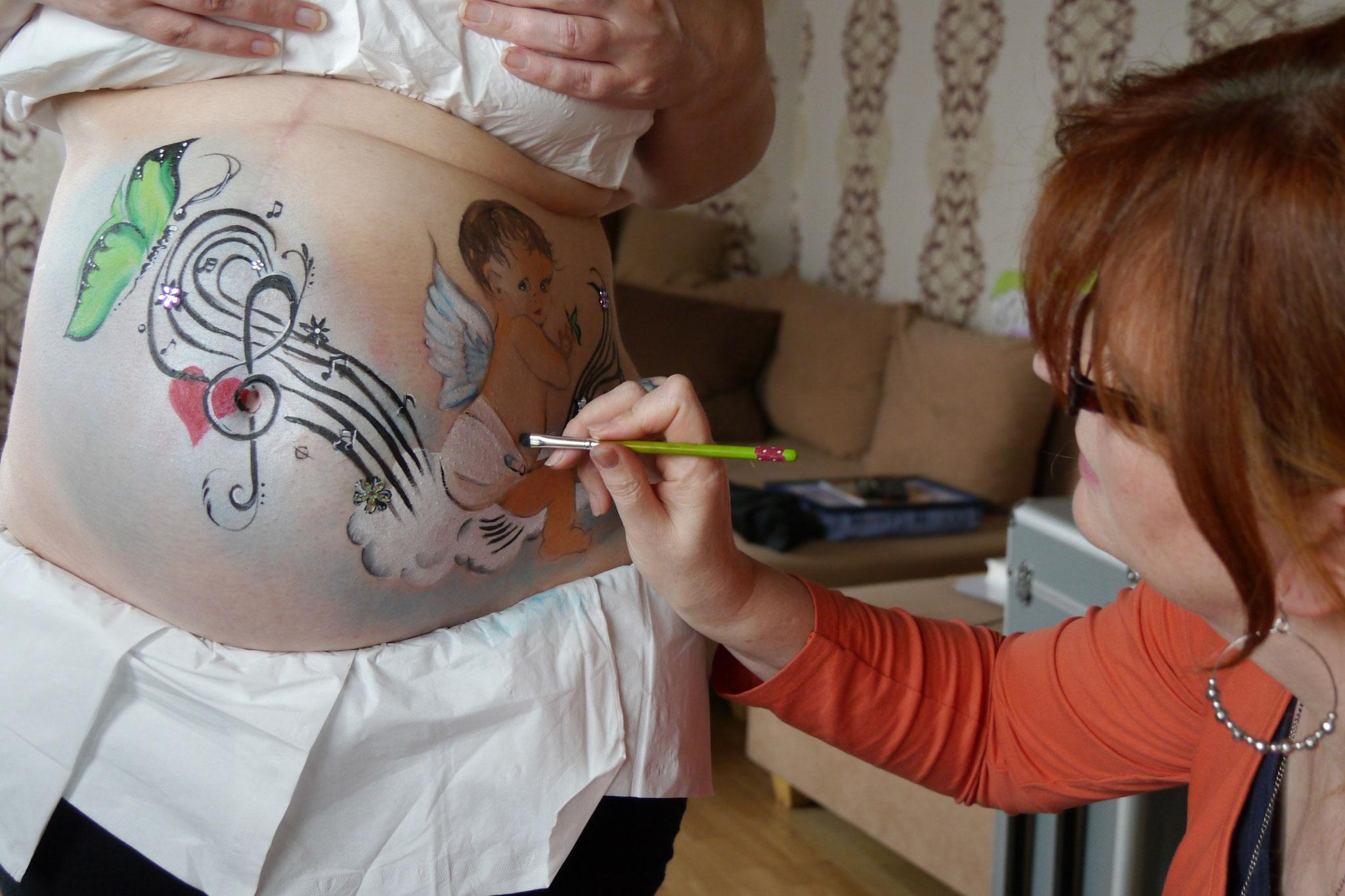 Persönliche Belly Paintings mit und ohne Fotoshooting