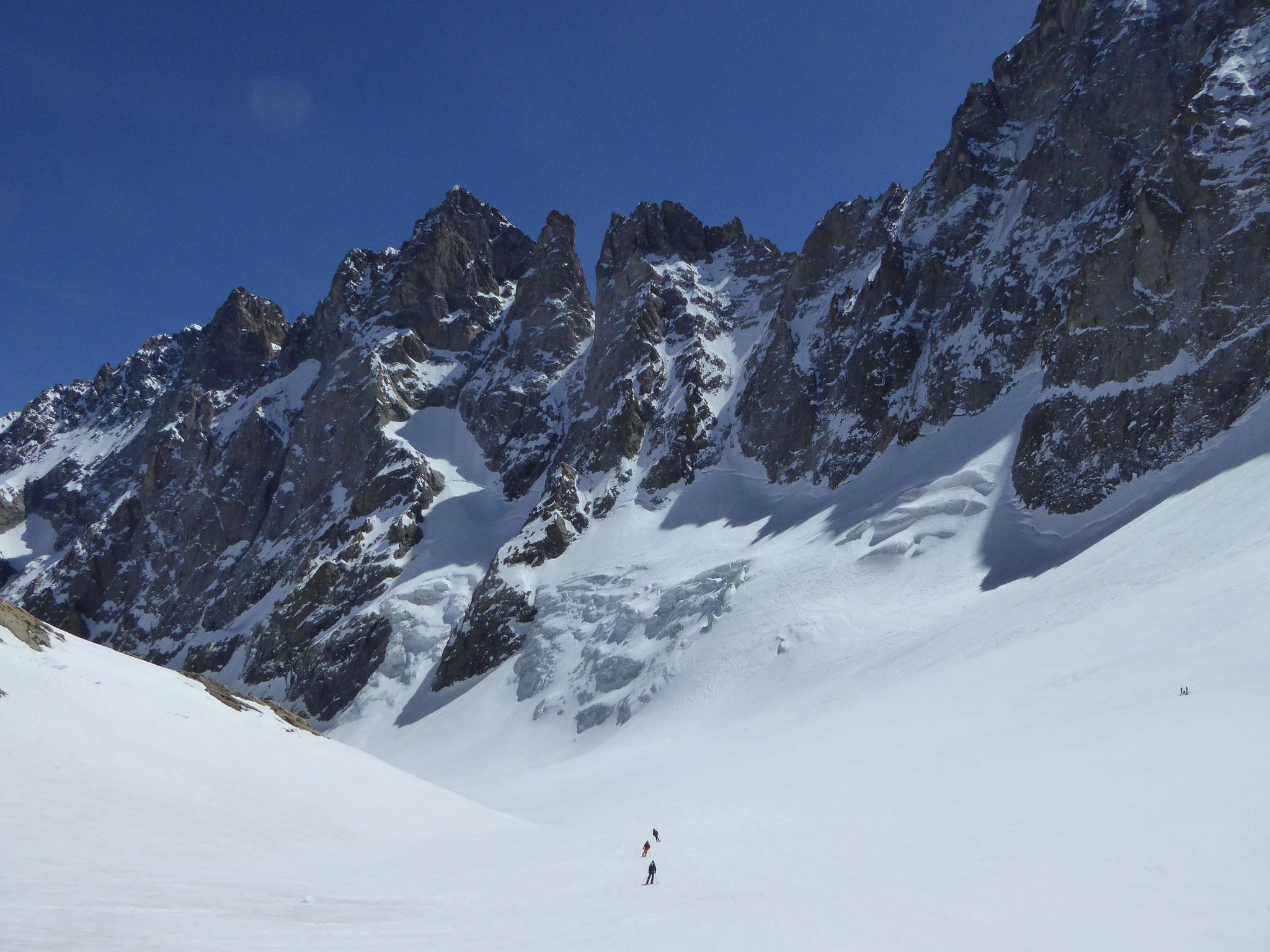 Du beau ski sur le Glacier Noir
