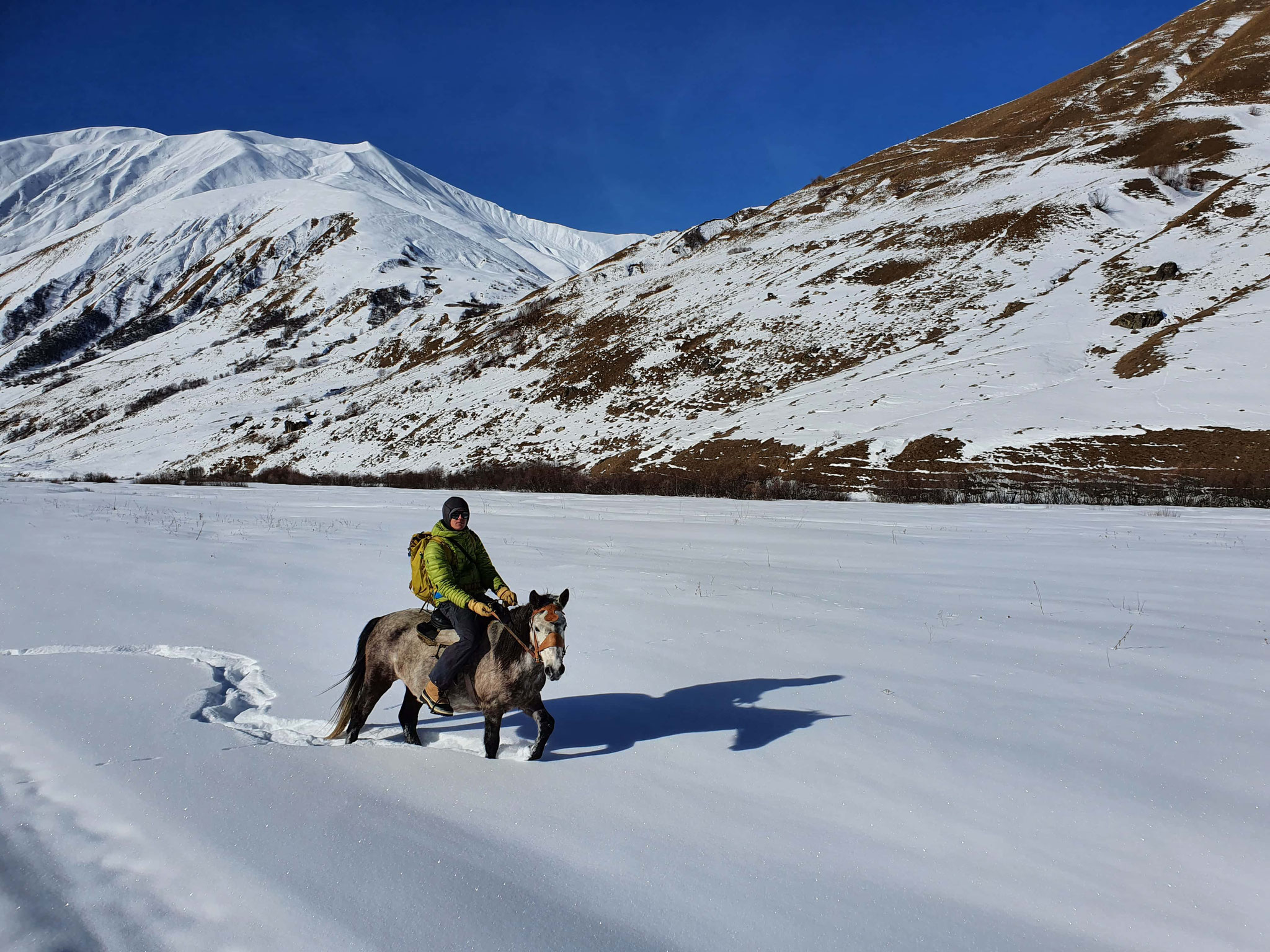Balade à cheval au glacier Shkara