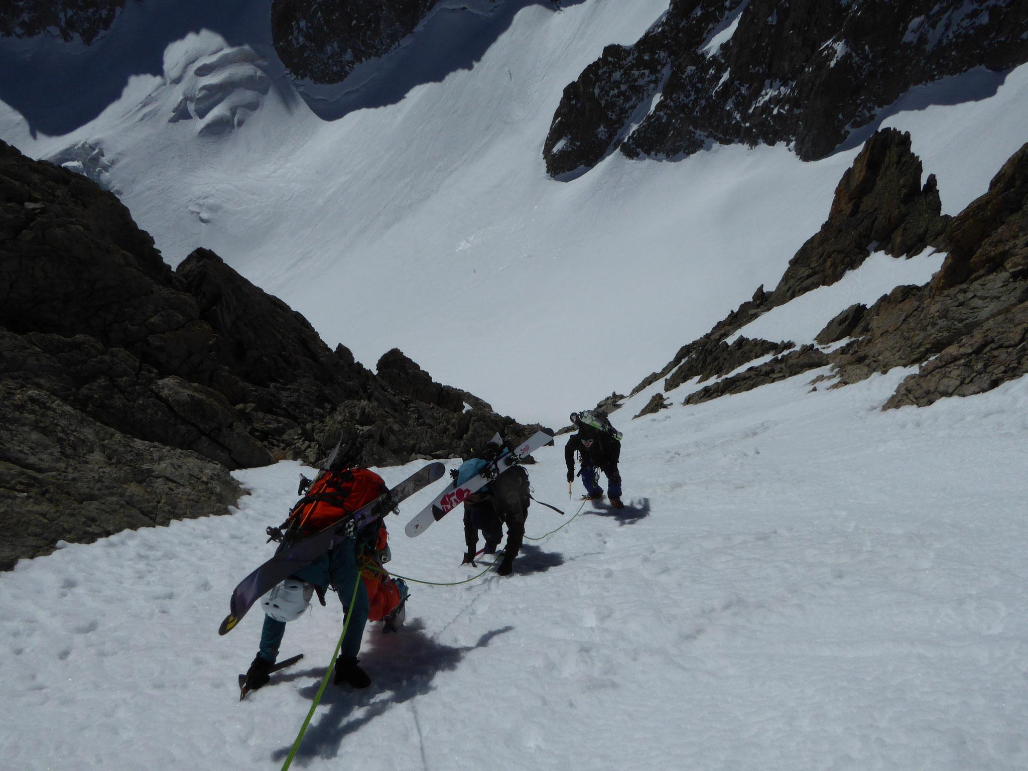 Descente sur le Glacier Noir