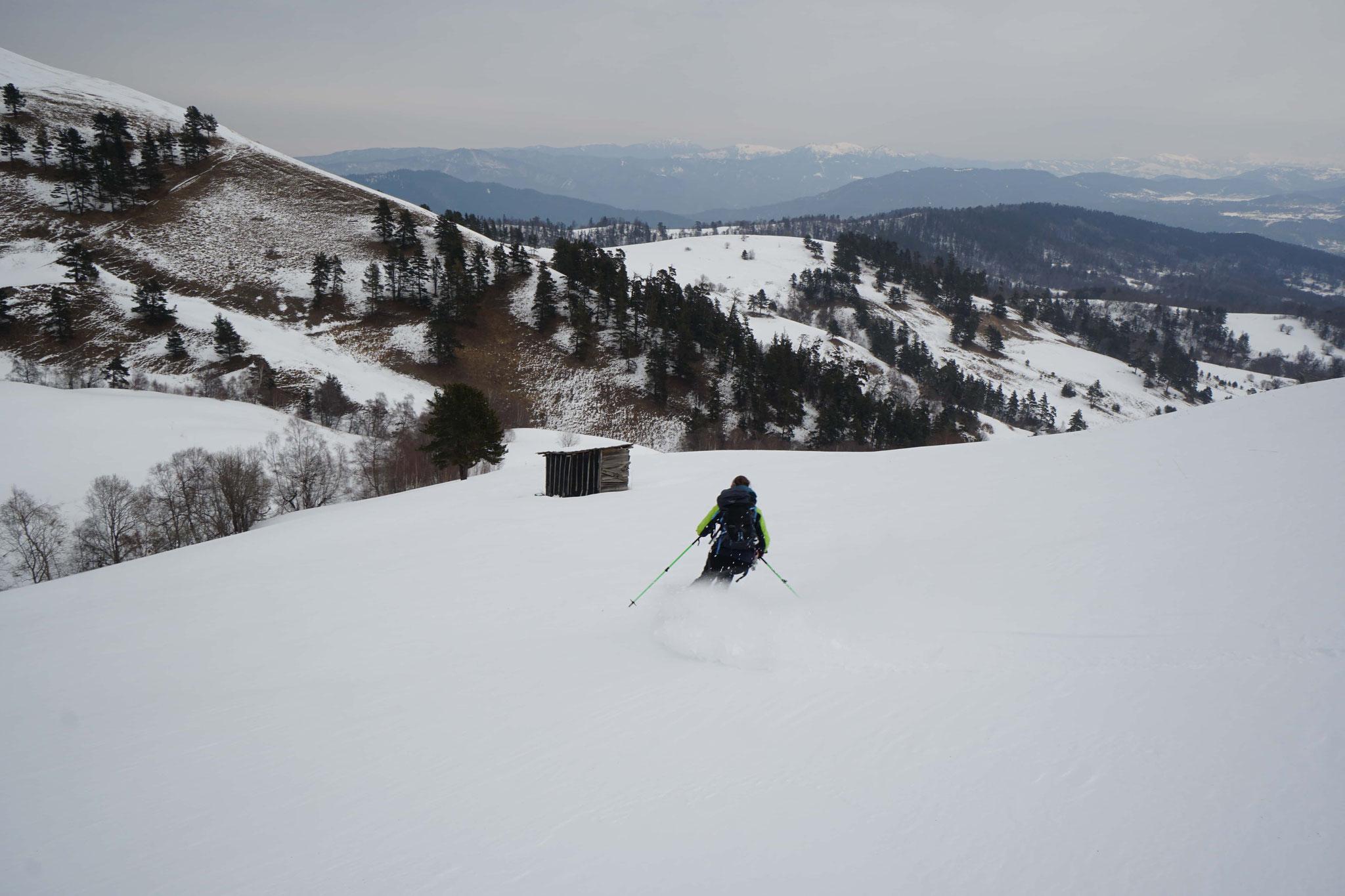 Première descente à ski