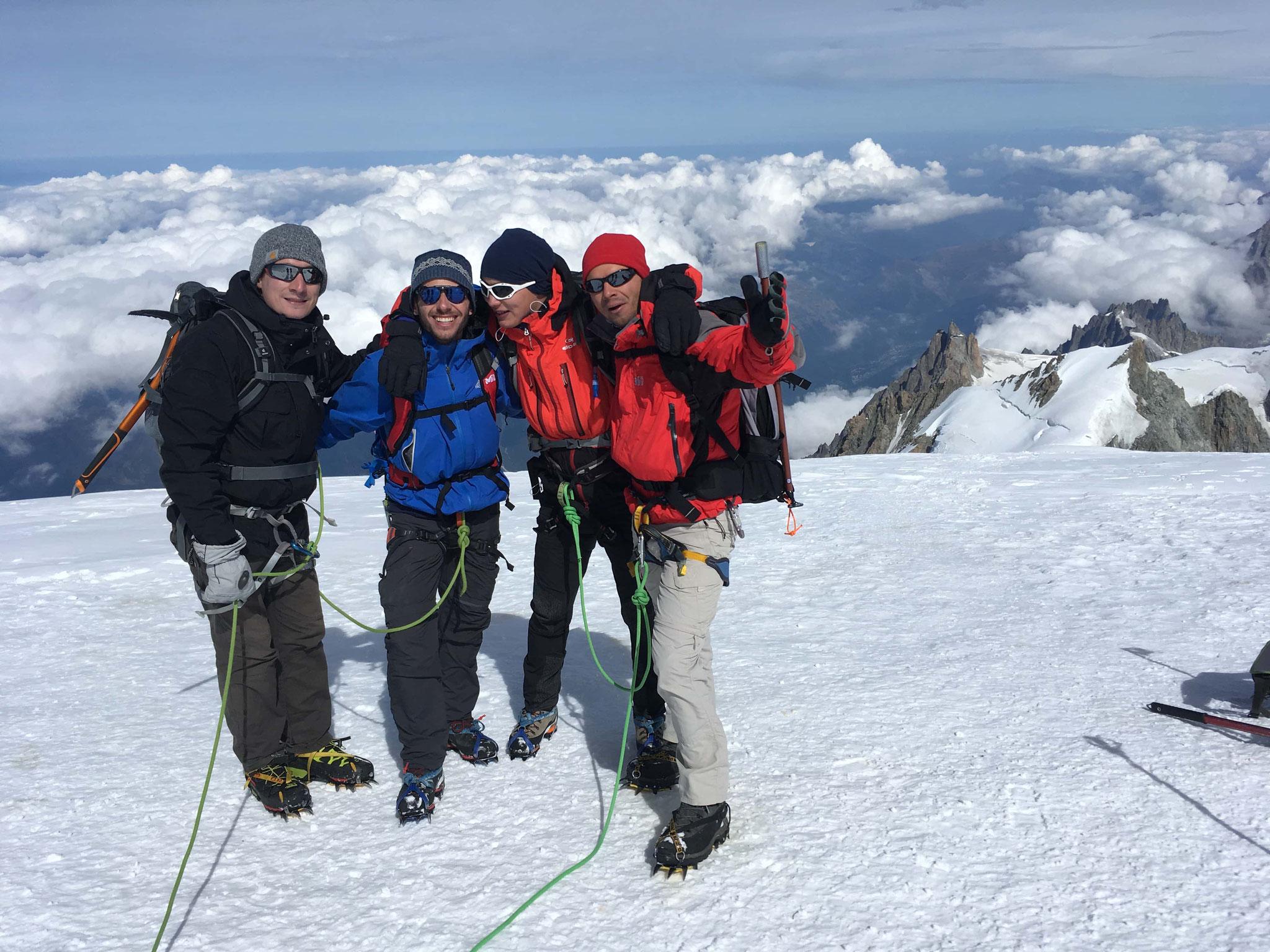 Les 4 compères au sommet