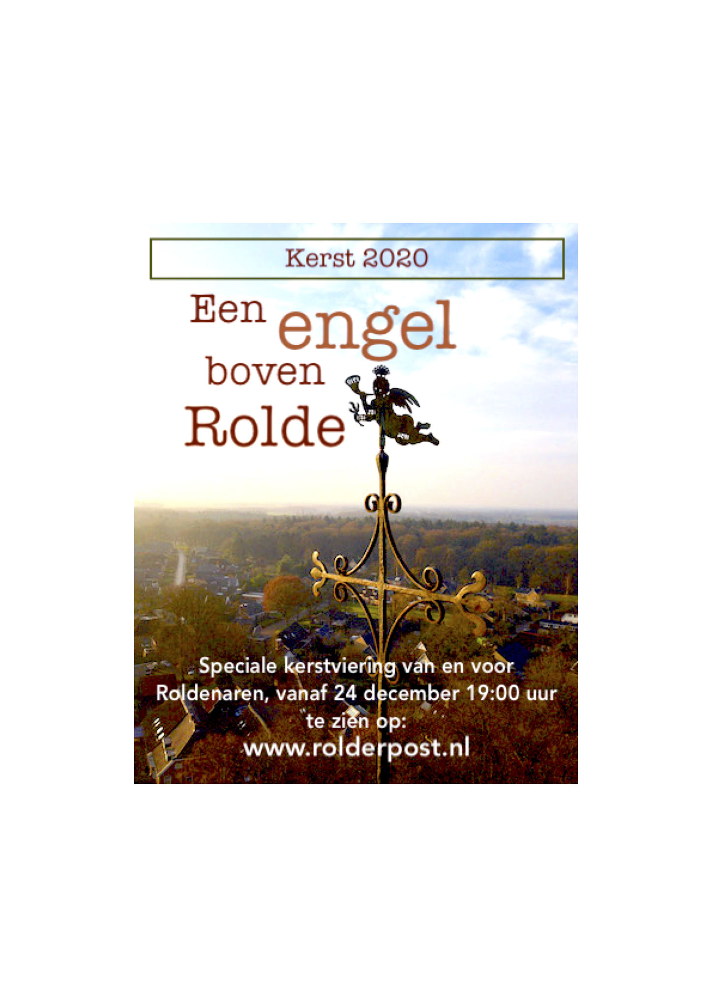 ontwerp flyer 'een engel boven rolde'