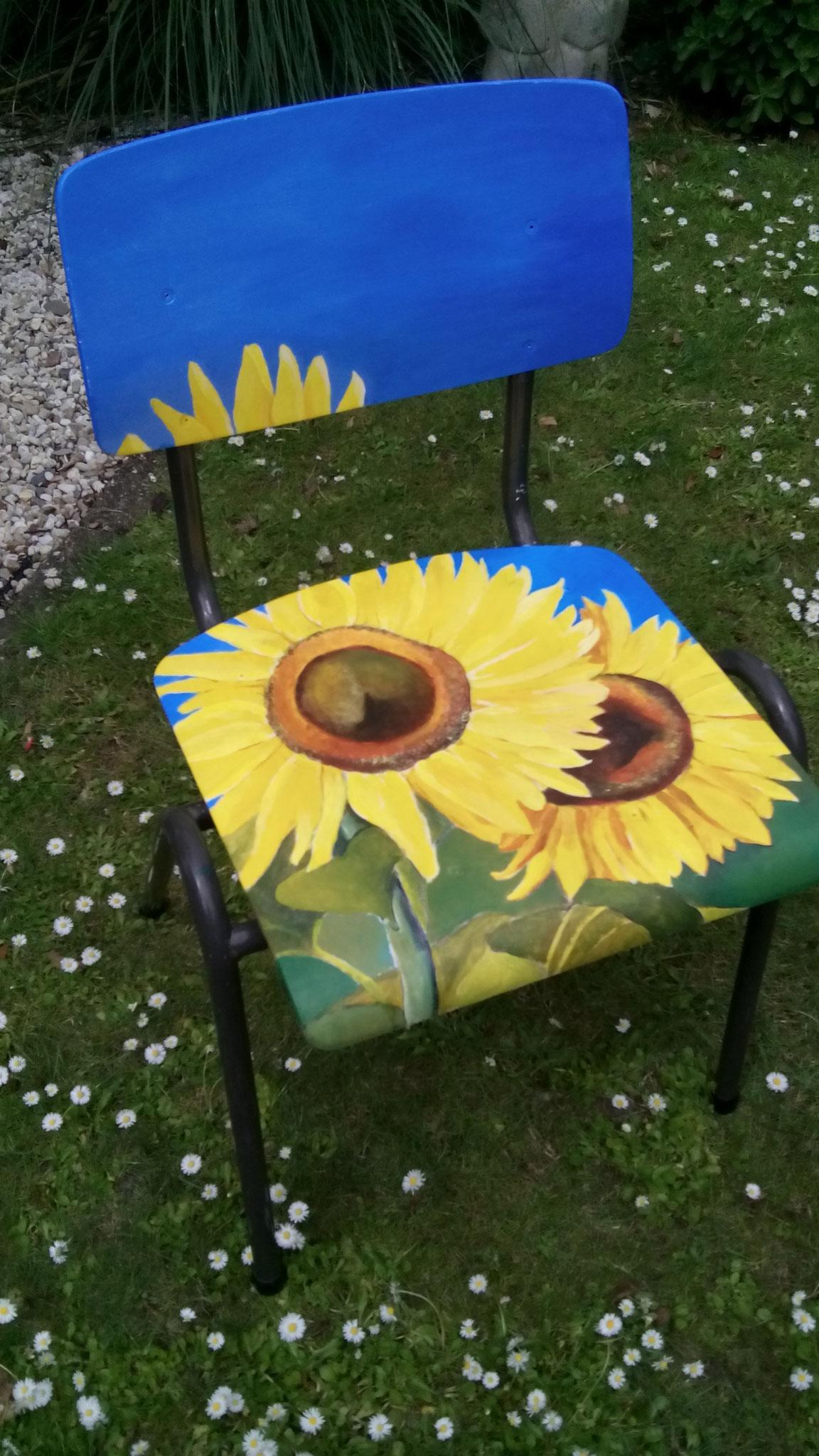 beschilderde stoel