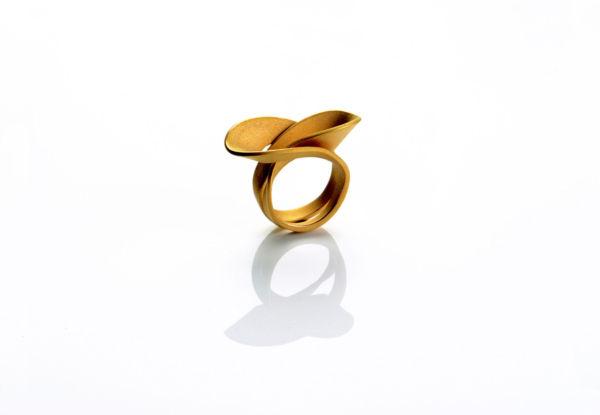 Wendepunkt Ring M2, 925/- Silber, 18ct goldplattiert
