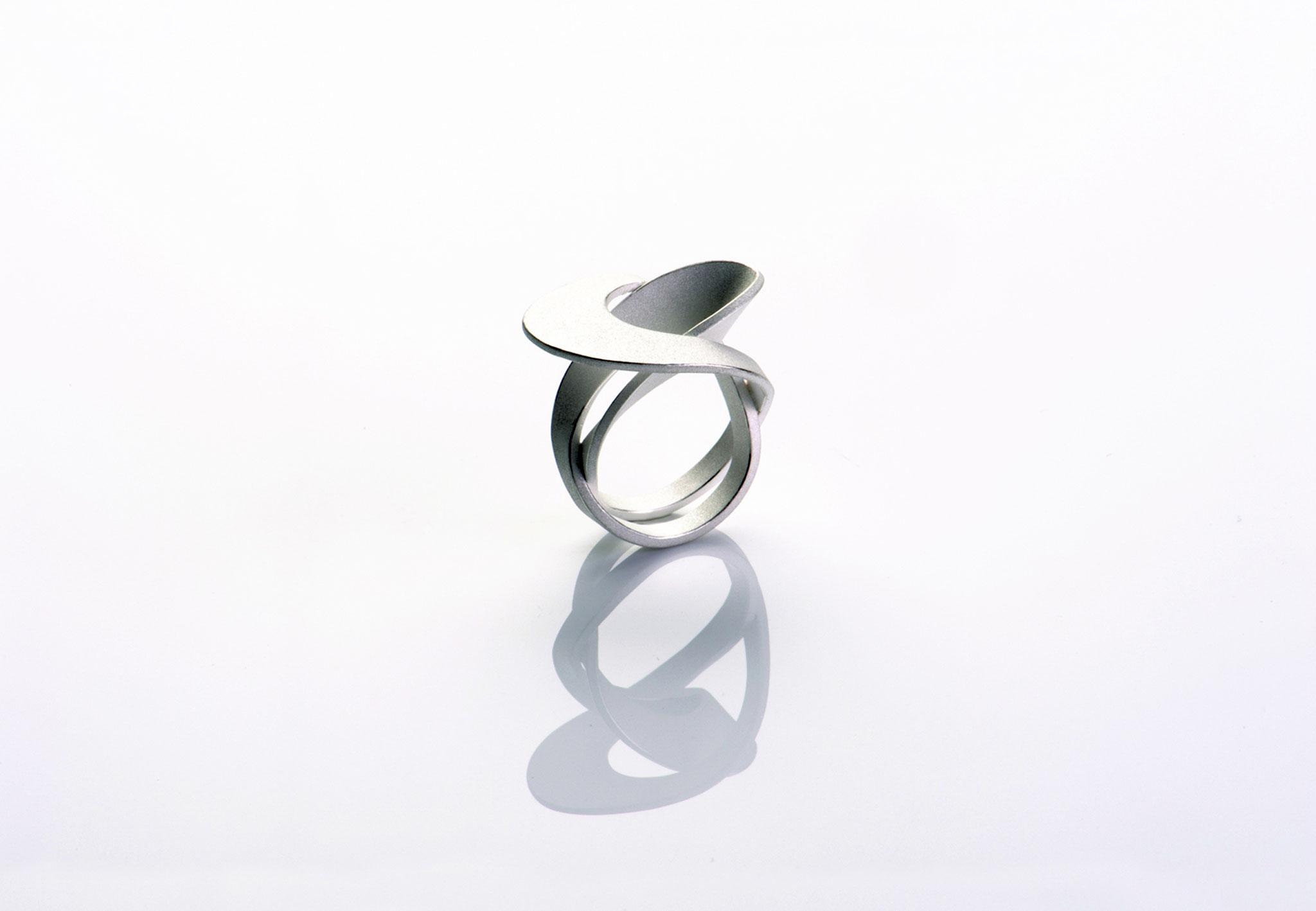 Wendepunkt Ring M5, 925/- Silber, weiß