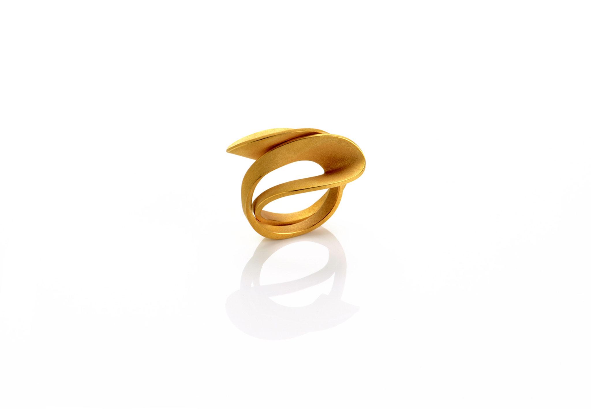 Wendepunkt Ring M4, 925/- Silber, 18ct goldplattiert