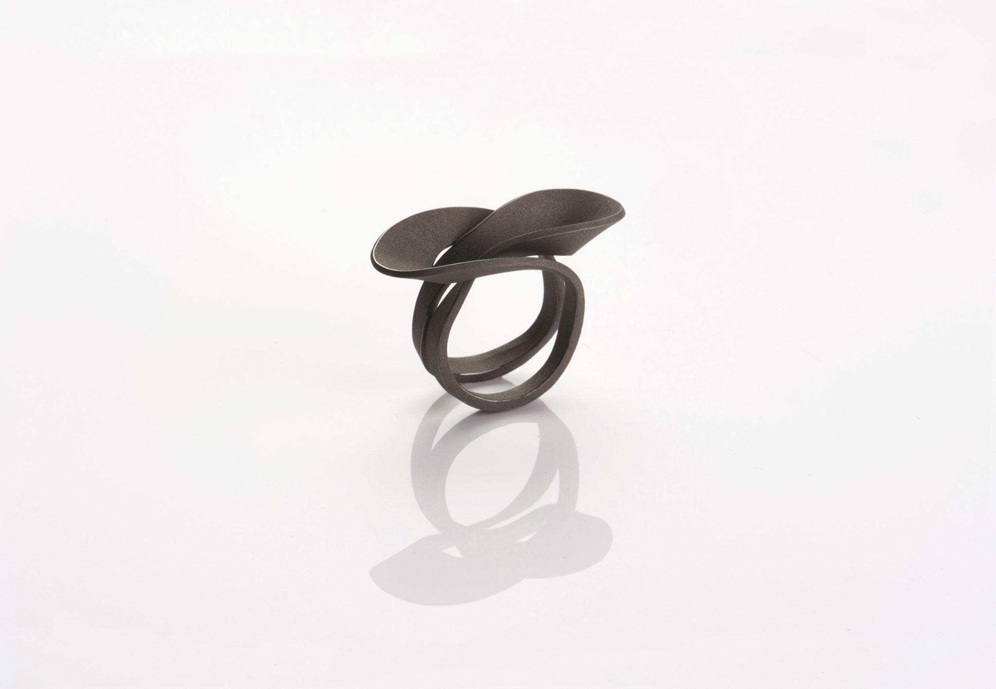 Wendepunkt Ring M2, 925/- Silber, schwarz-rhodiniert