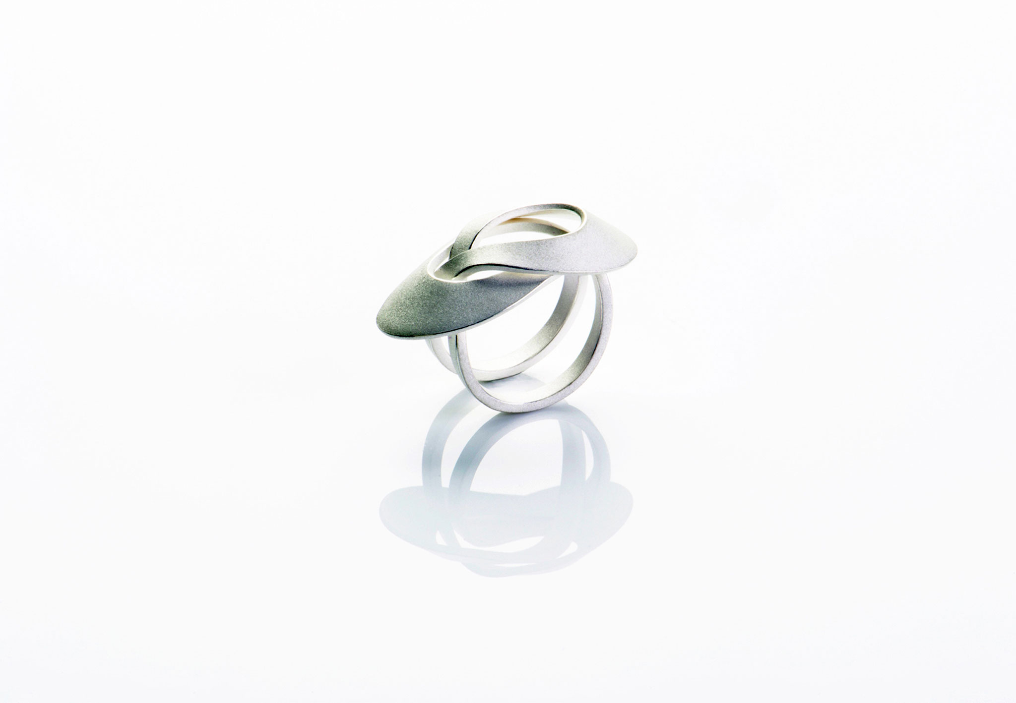 Wendepunkt Ring M3, 925/- Silber, weiß