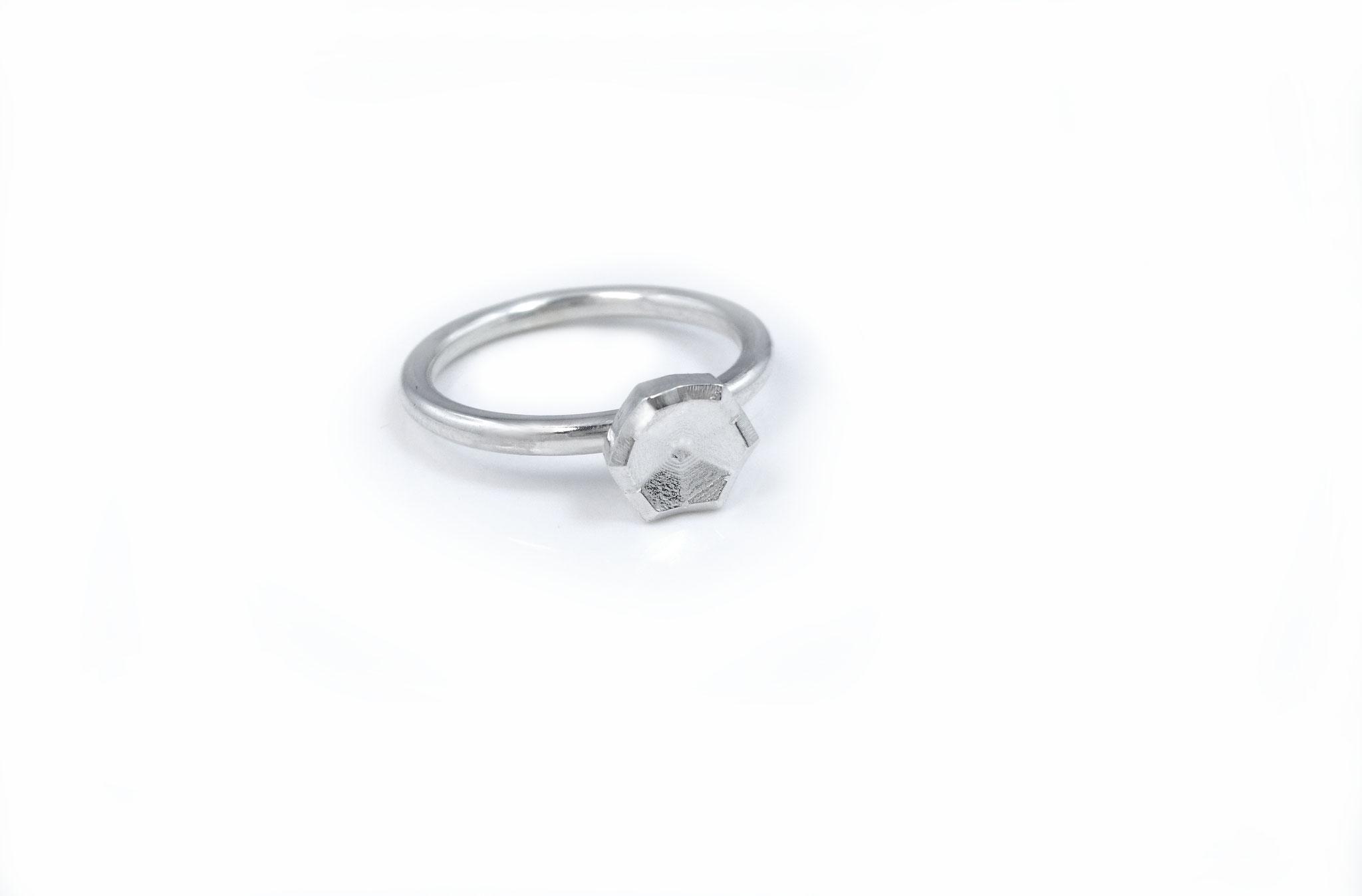 """Schneestern Ring """"Facette"""" klein"""