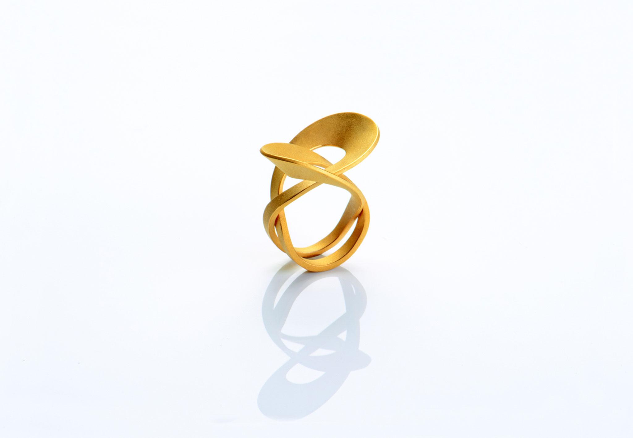Wendepunkt Ring M1, 925/- Silber, 18ct goldplattiert