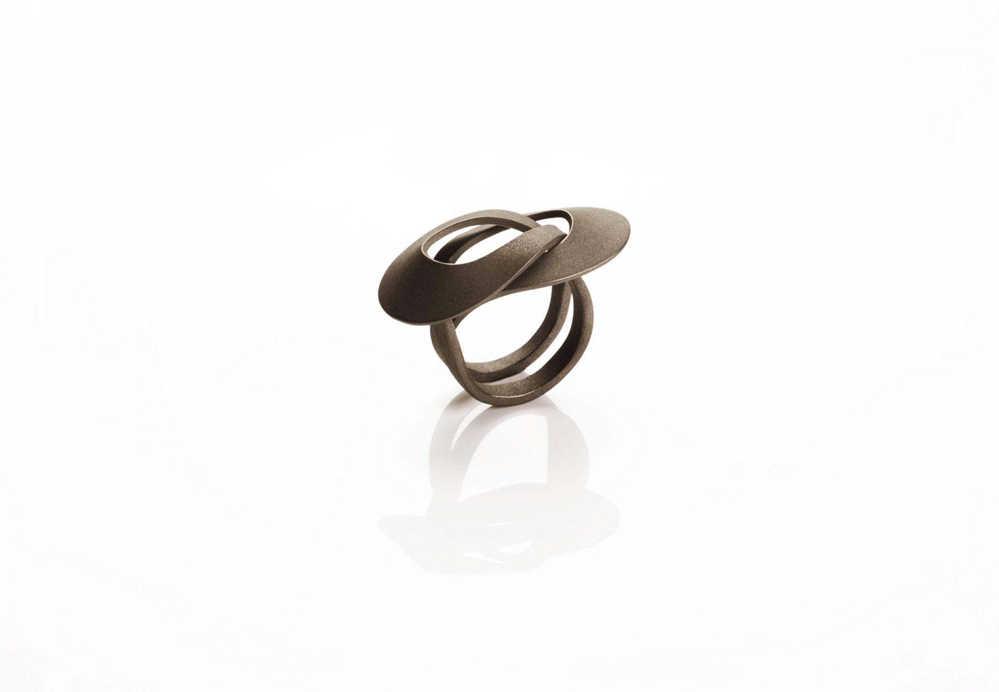 Wendepunkt Ring M3, 925/- Silber, schwarz-rhodiniert