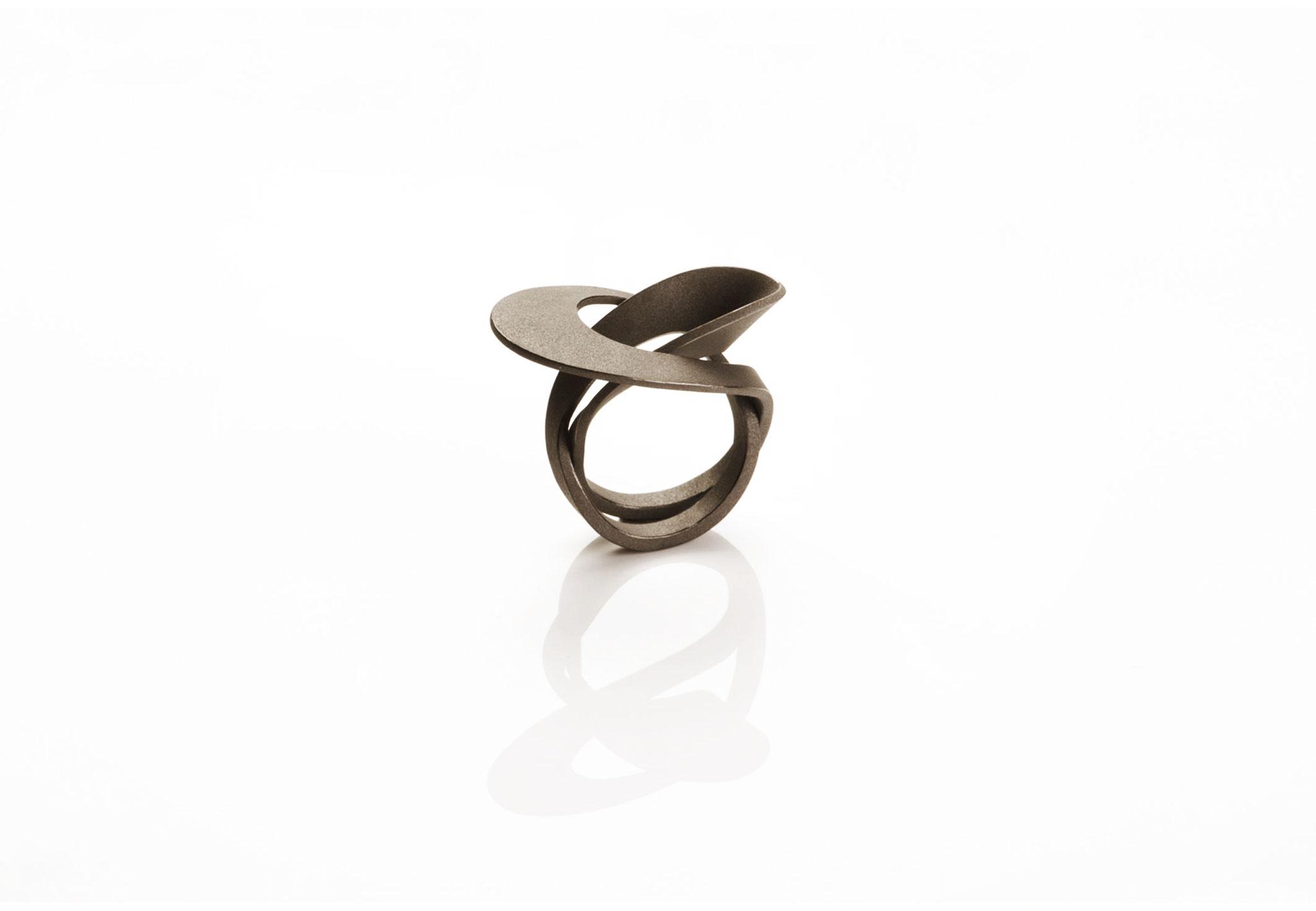 Wendepunkt Ring M5, 925/- Silber, schwarz-rhodiniert