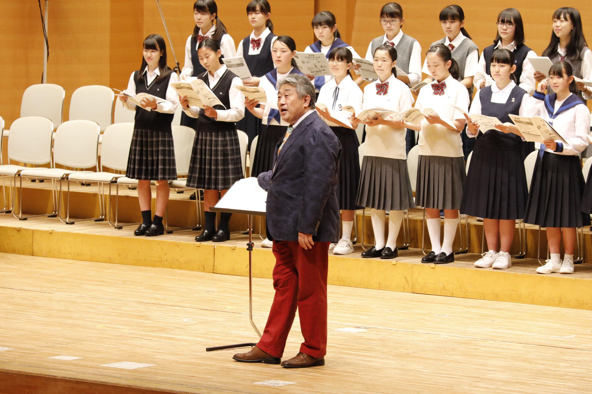 NHK全国学校音楽コンクール課題曲講習会(中学校) 講師:辻秀幸・加藤昌則