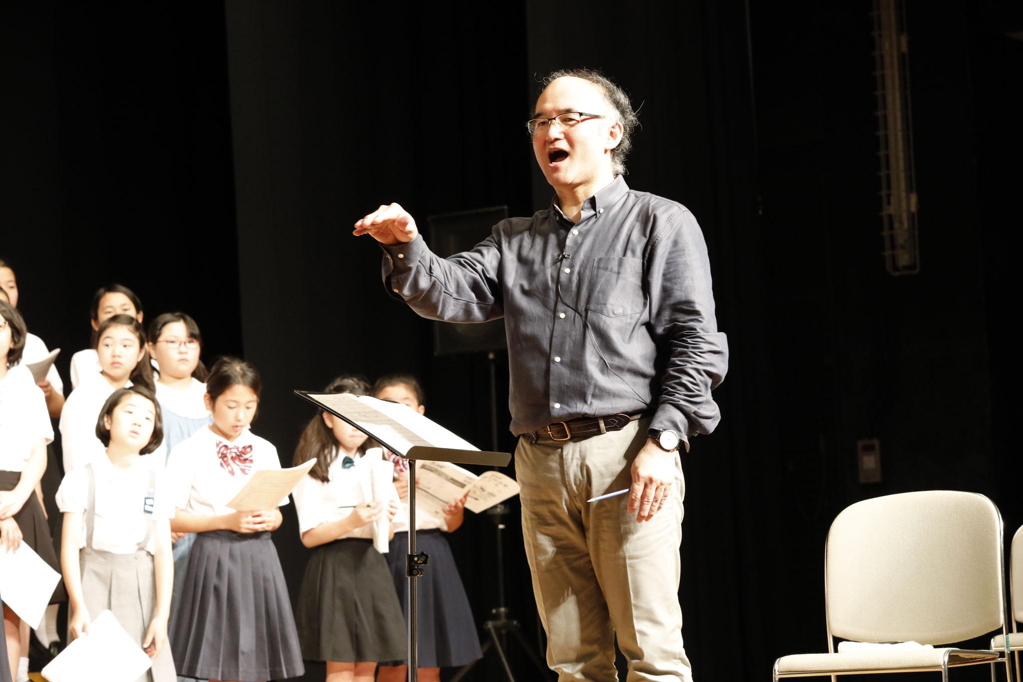NHK全国学校音楽コンクール課題曲講習会(小学校) 講師:清水雅彦・大熊崇子