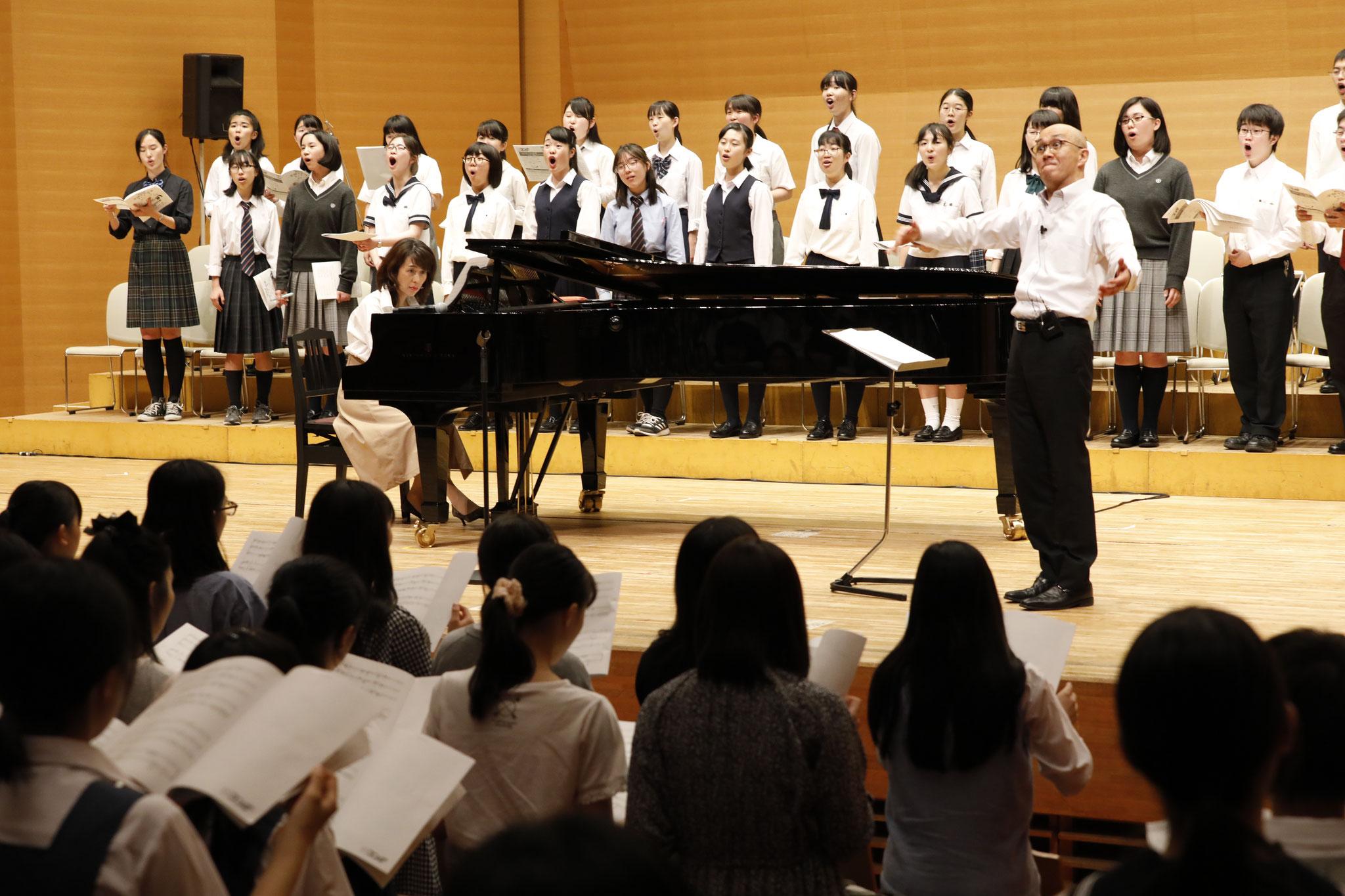 NHK全国学校音楽コンクール課題曲講習会(高等学校) 講師:雨森文也・横山潤子