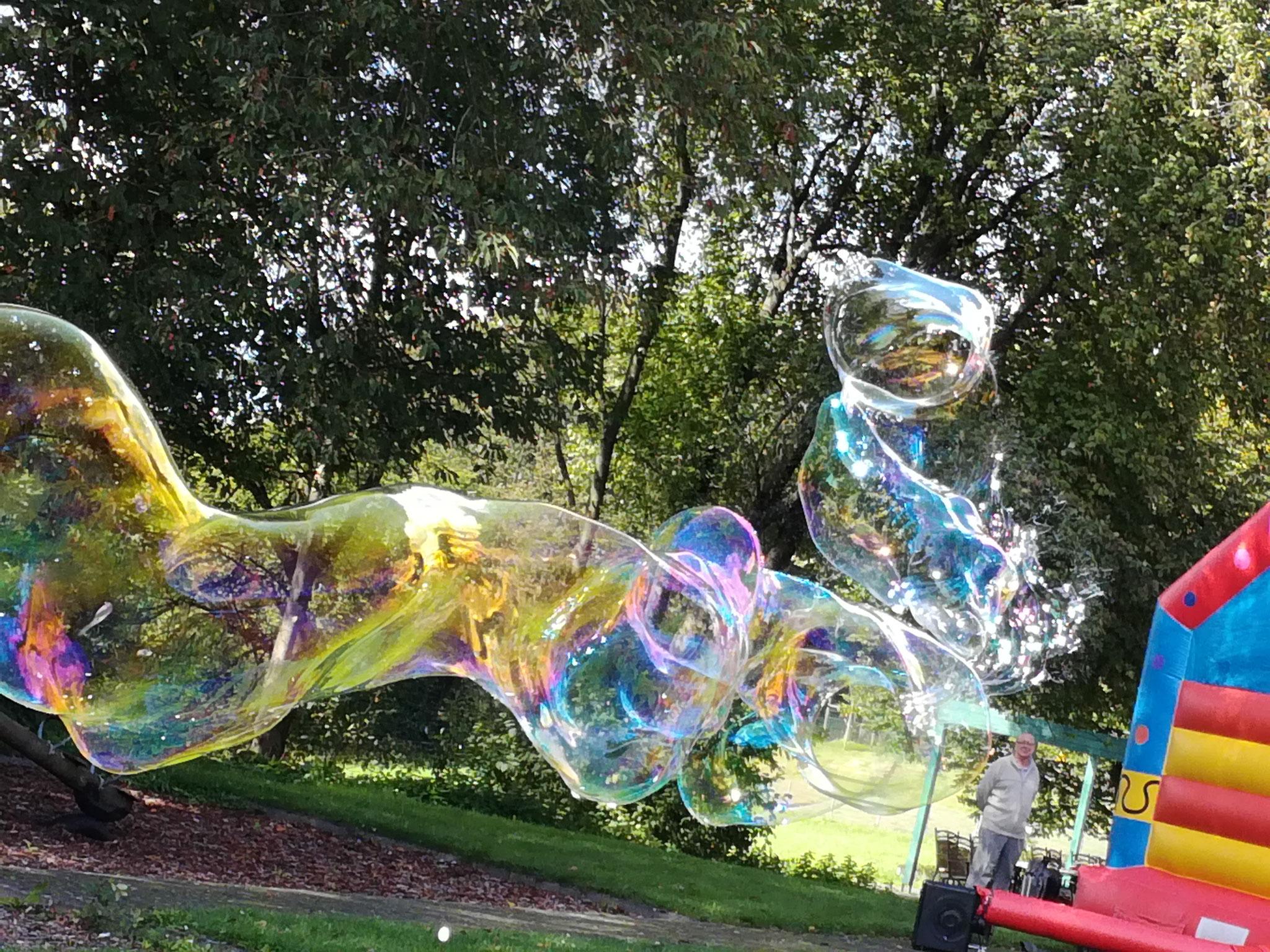 Seifenblasen am Sommer Fest