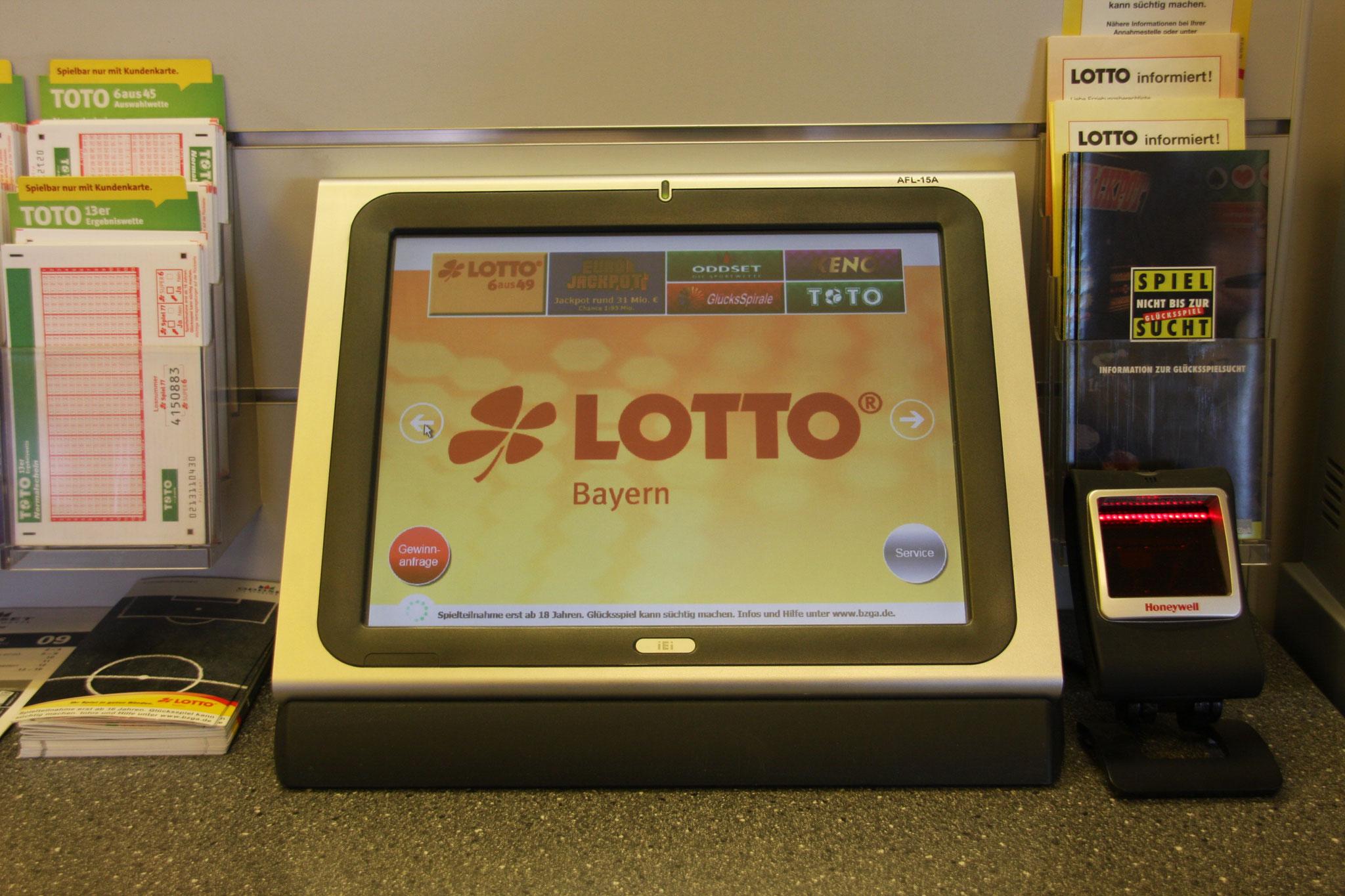 Tipp-Terminal für Lottoprofis