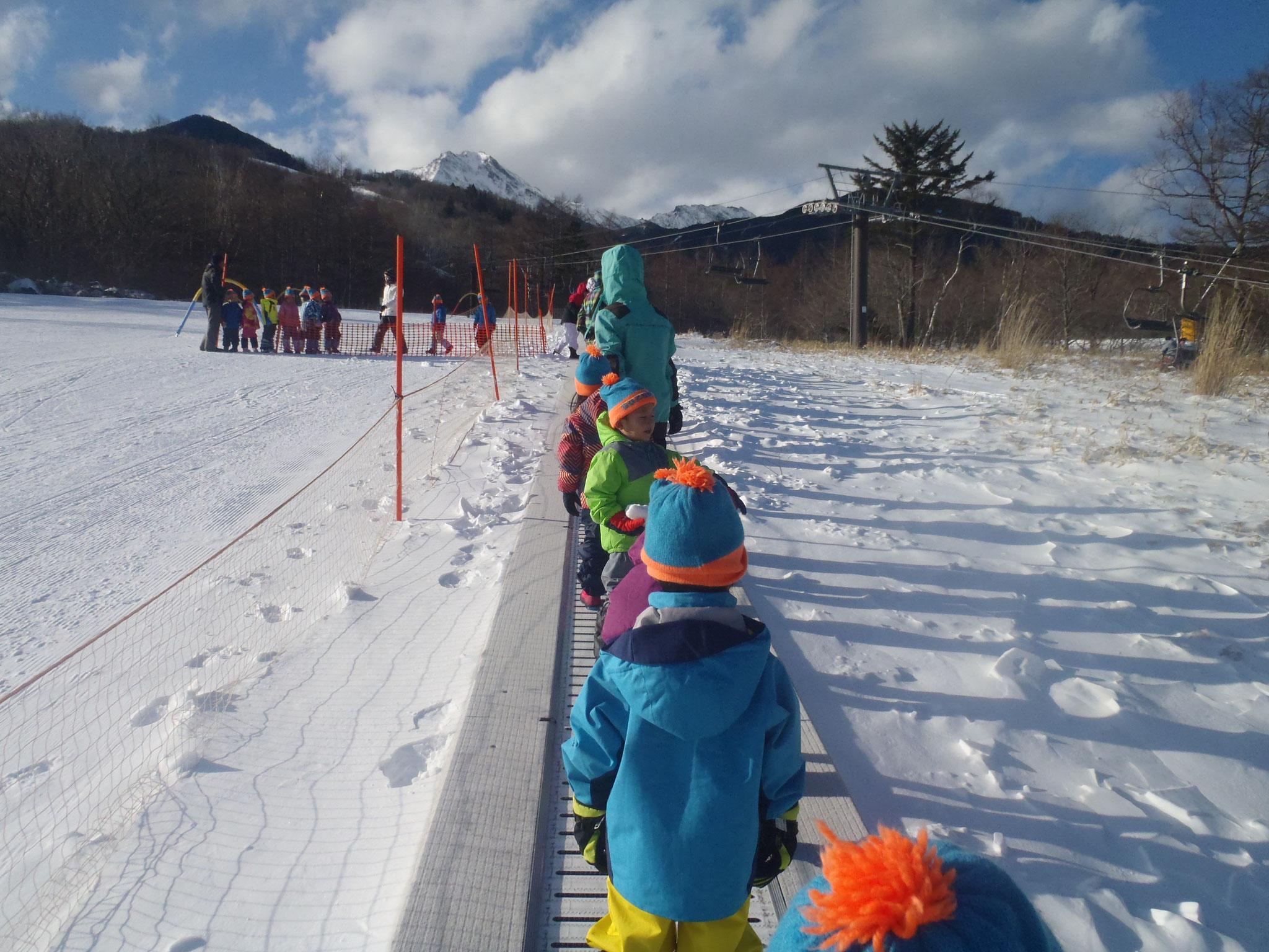 これからスキーに挑戦です