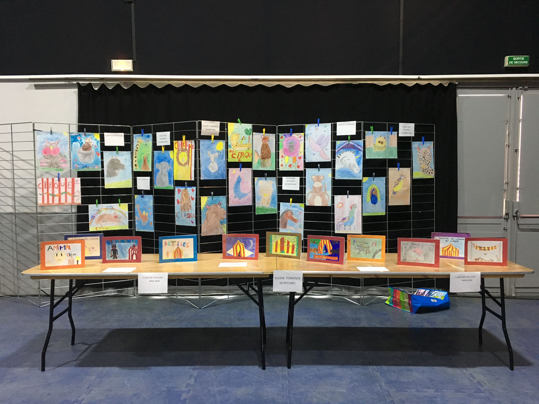14 juin 2019 : restitution des ateliers artistiques - école des Aulnaies élémentaire, Auvers-sur-Oise (95)