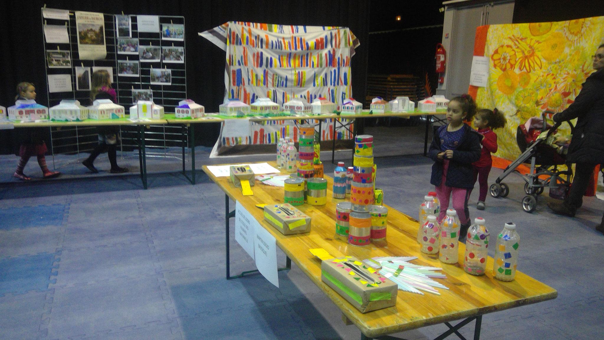 Les travaux d'architecture des enfants réalisés avec Bertille di Pace