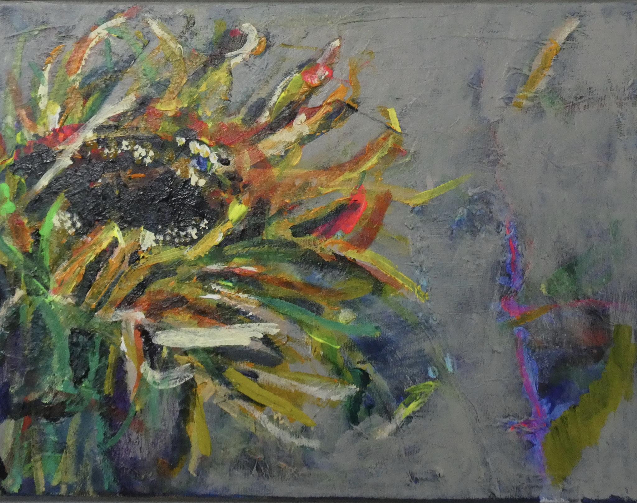 Sonnenblume 6,  30x40,  acrylic on canvas
