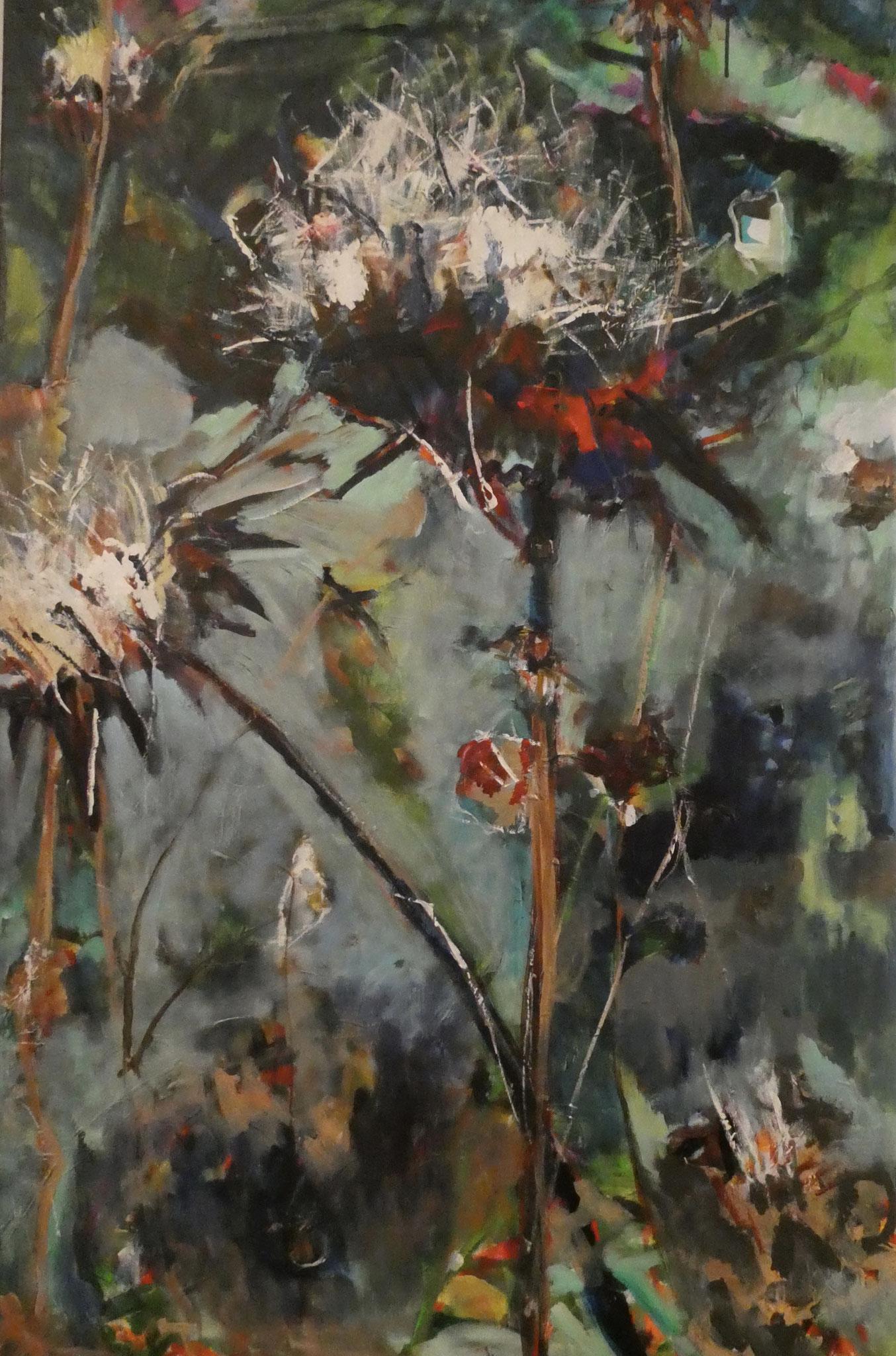Disteln 1,  110x70,  acrylic on canvas