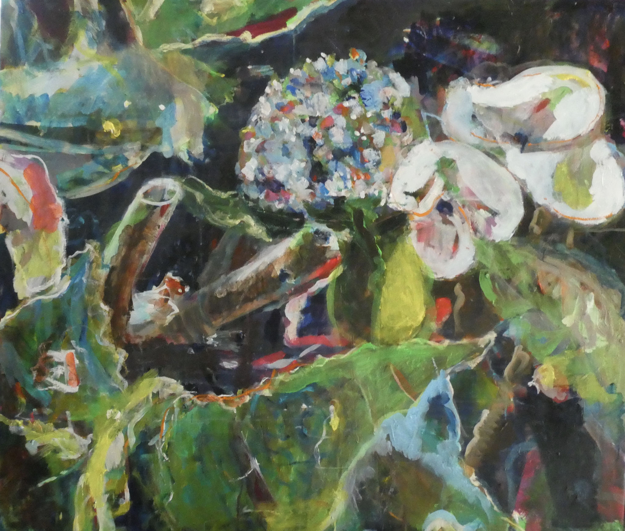 Hortensien 8,  95x110,  acrylic on canvas