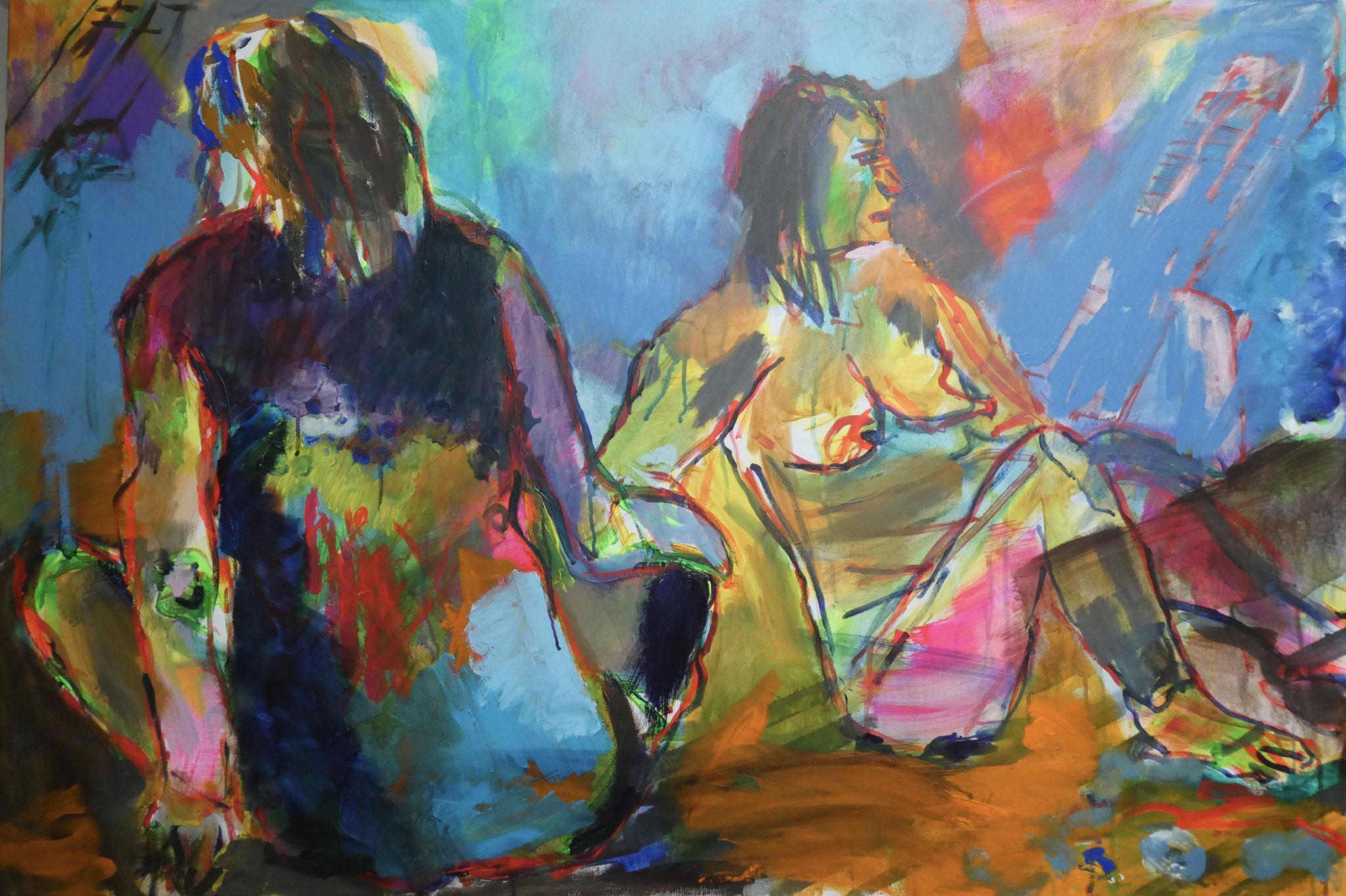 Akt 1, 80x120, acrylic on canvas