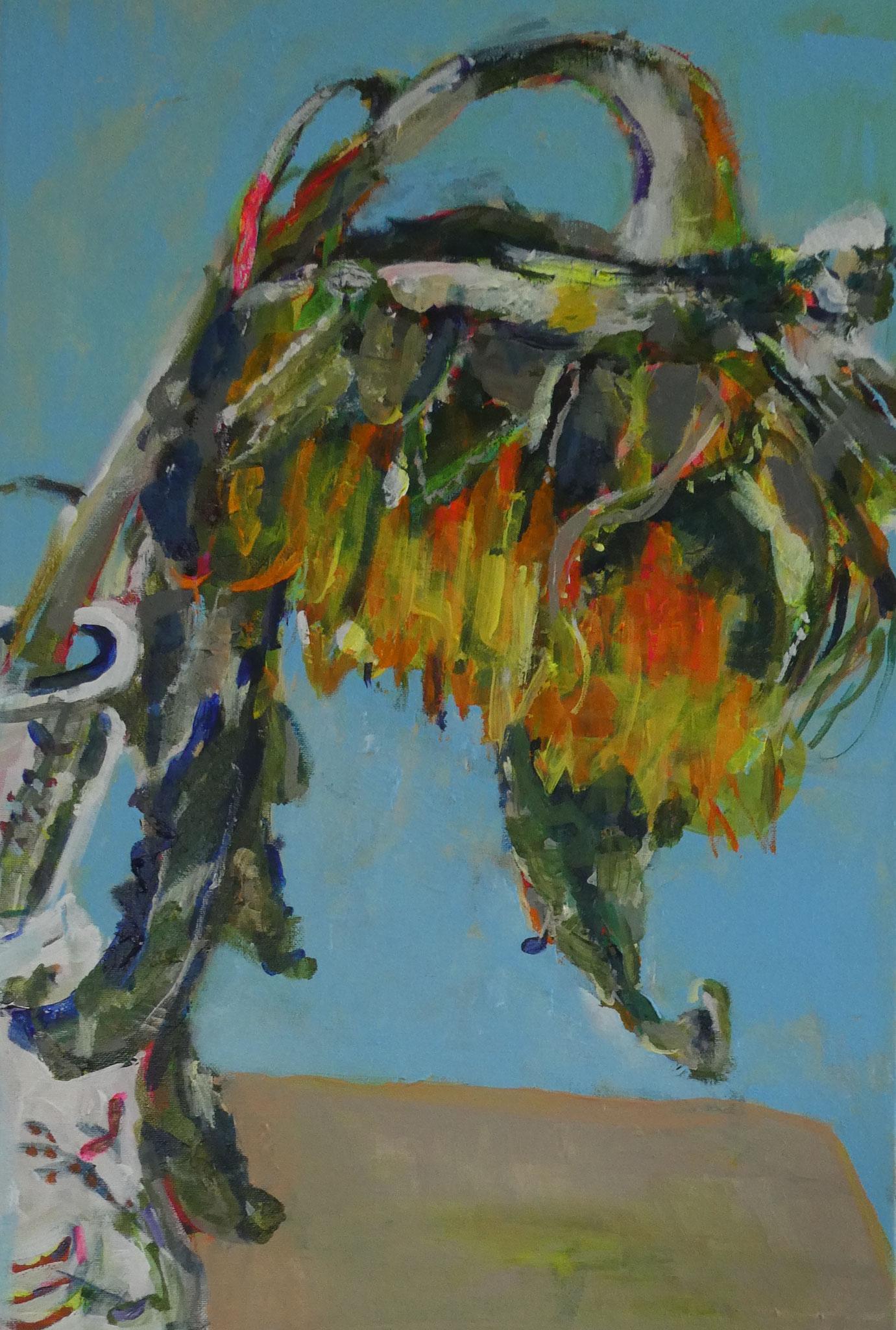 Sonnenblume 1,  60x40,  acrylic on canvas