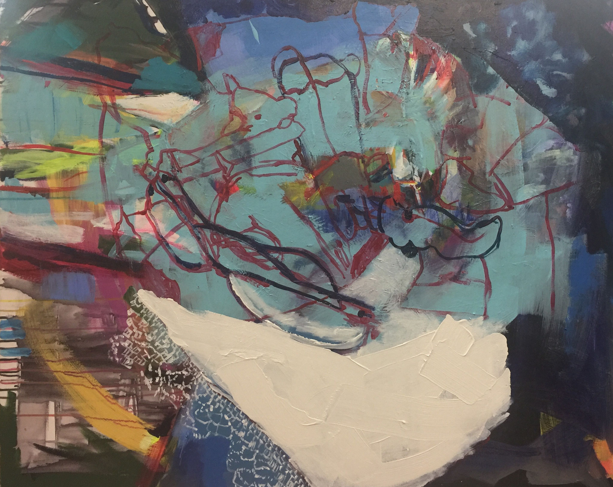 Stillleben mit Kuh 5, 100x120,  acrylic on canvas