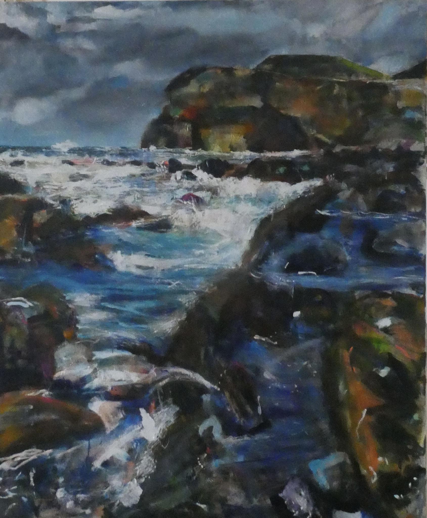 Wasser 11,  120x100,  acrylic on canvas