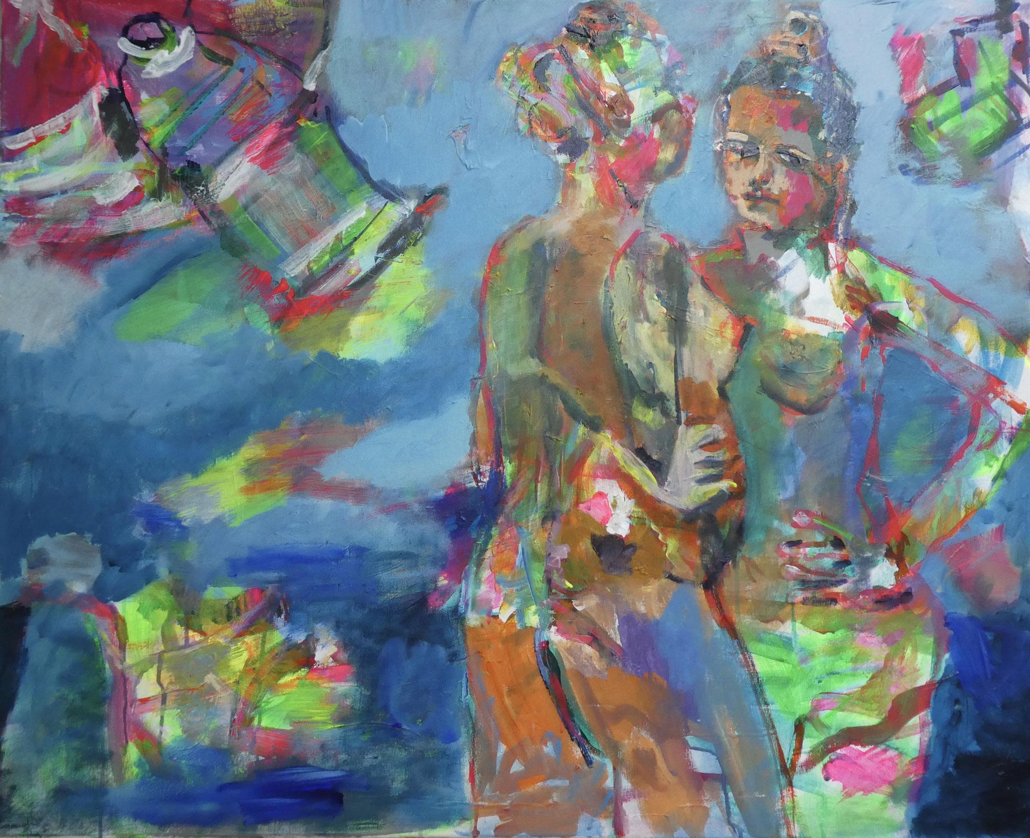 Akt 3, 80x100, acrylic on canvas