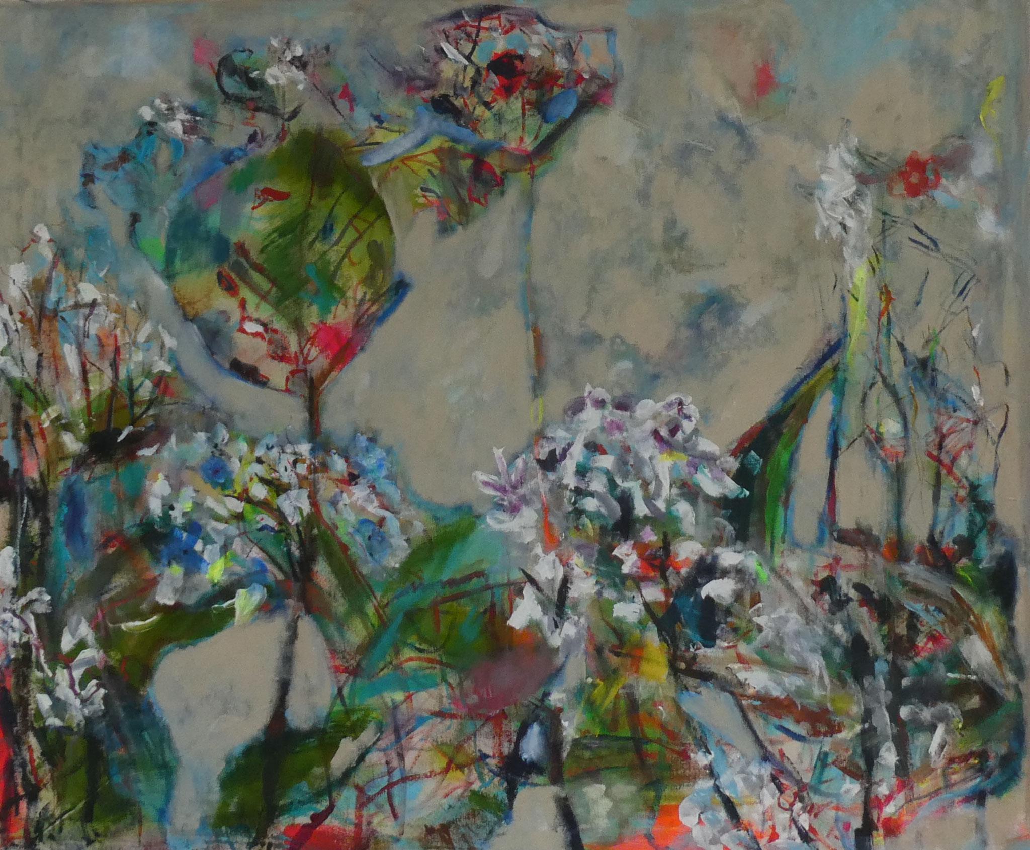 Hortensien 17,  100x120,  acrylic on canvas