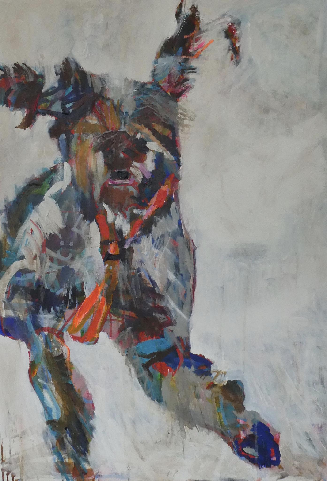 Hund 1, 100x70, acrylic on canvas