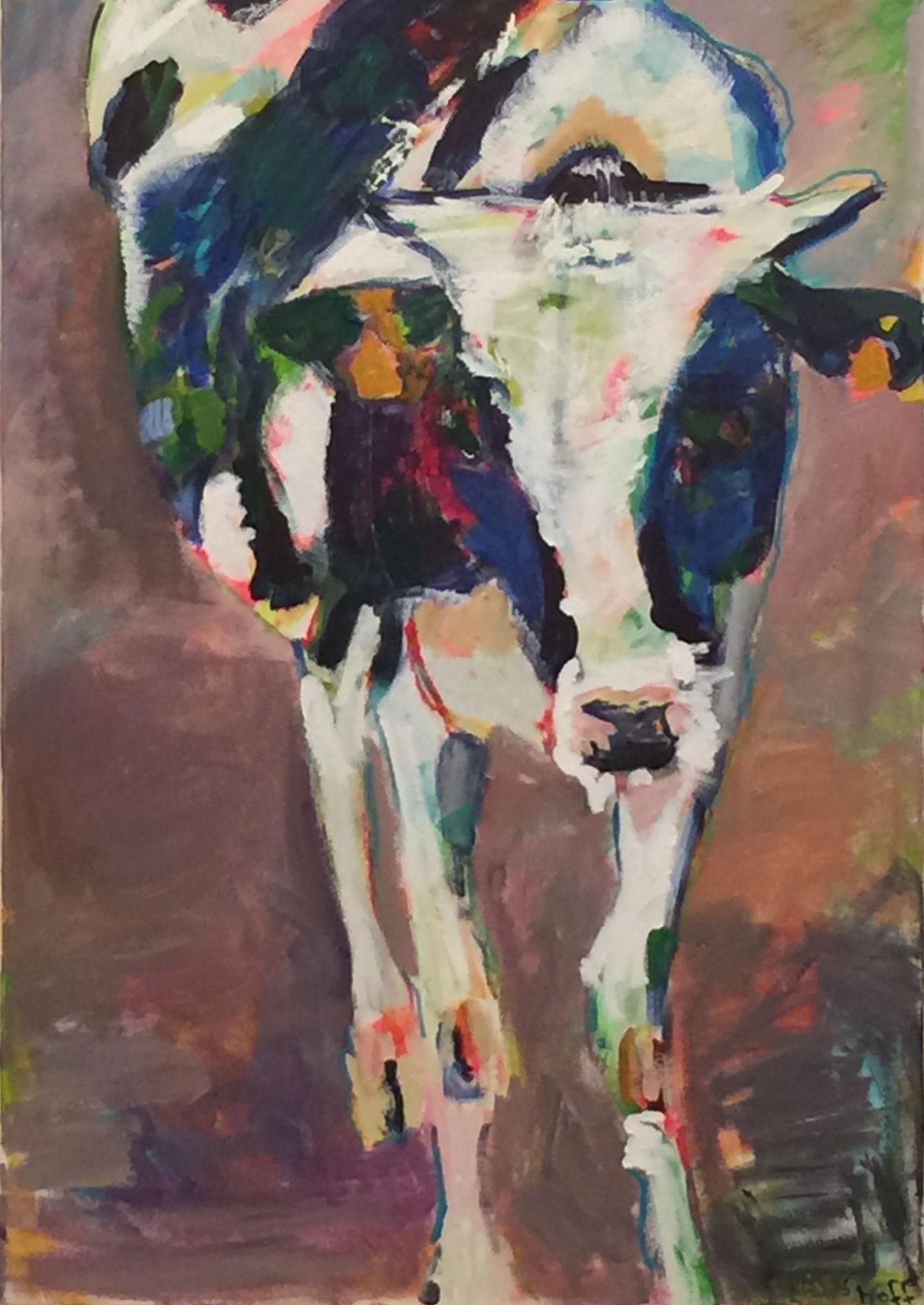 Gehörnt 5, 80x120 acrylic on canvas