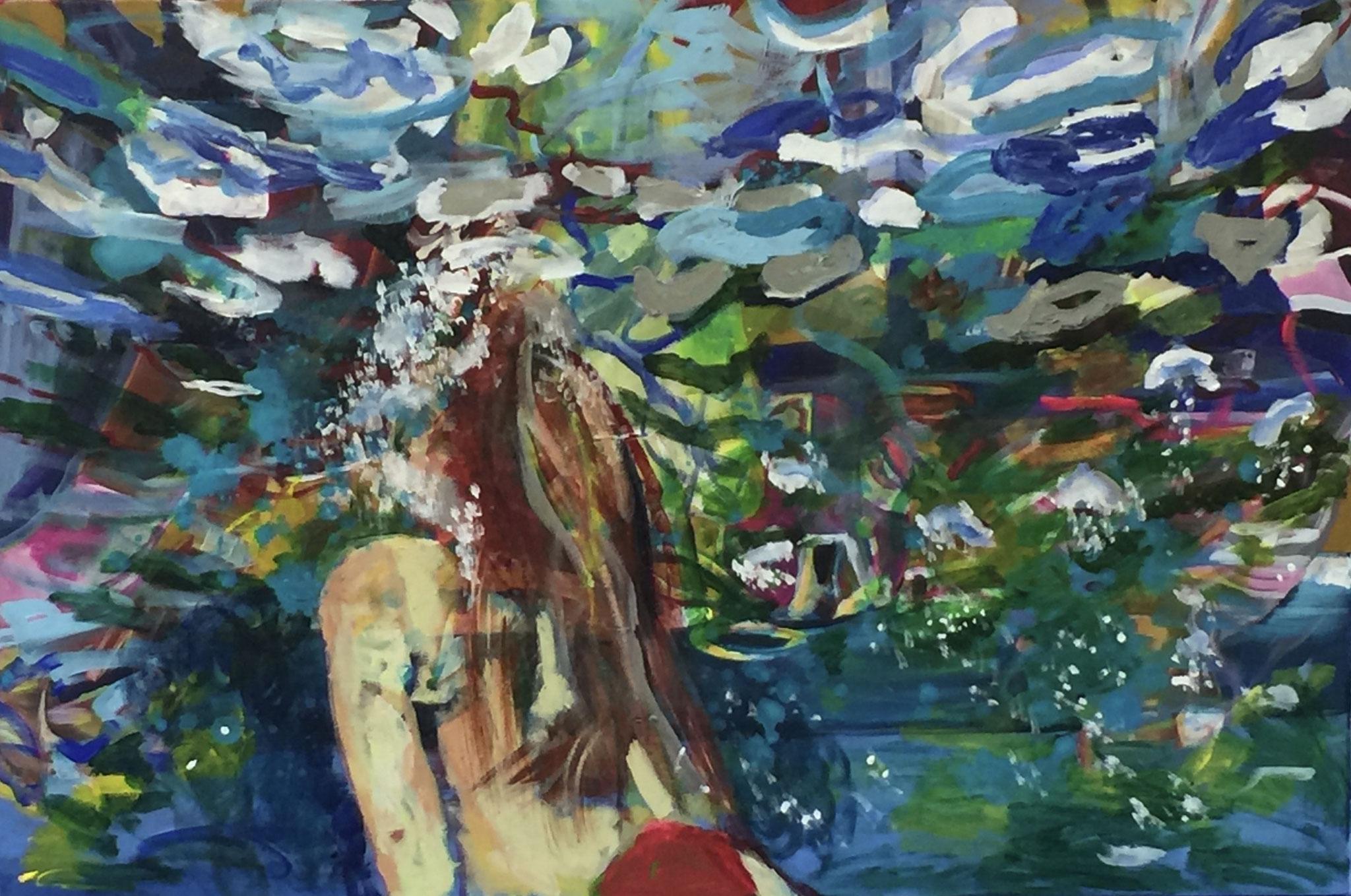 Wasser 1, 120x80 acrylic on canvas