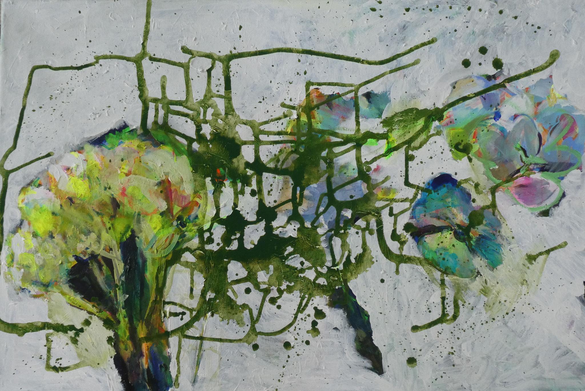 Hortensien 5,  60x90,  acrylic on canvas
