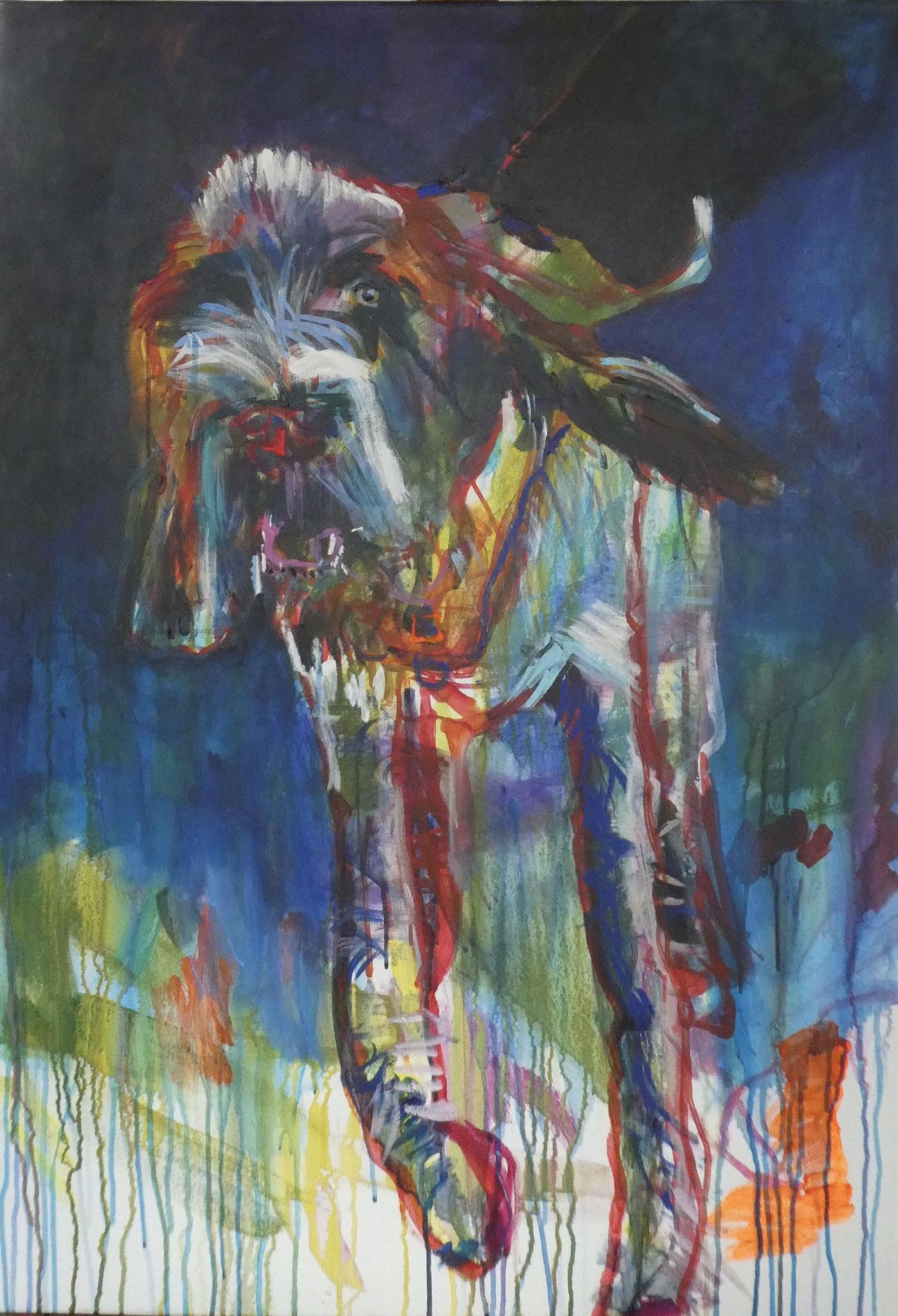 Hund 2, 100x70, acrylic on canvas