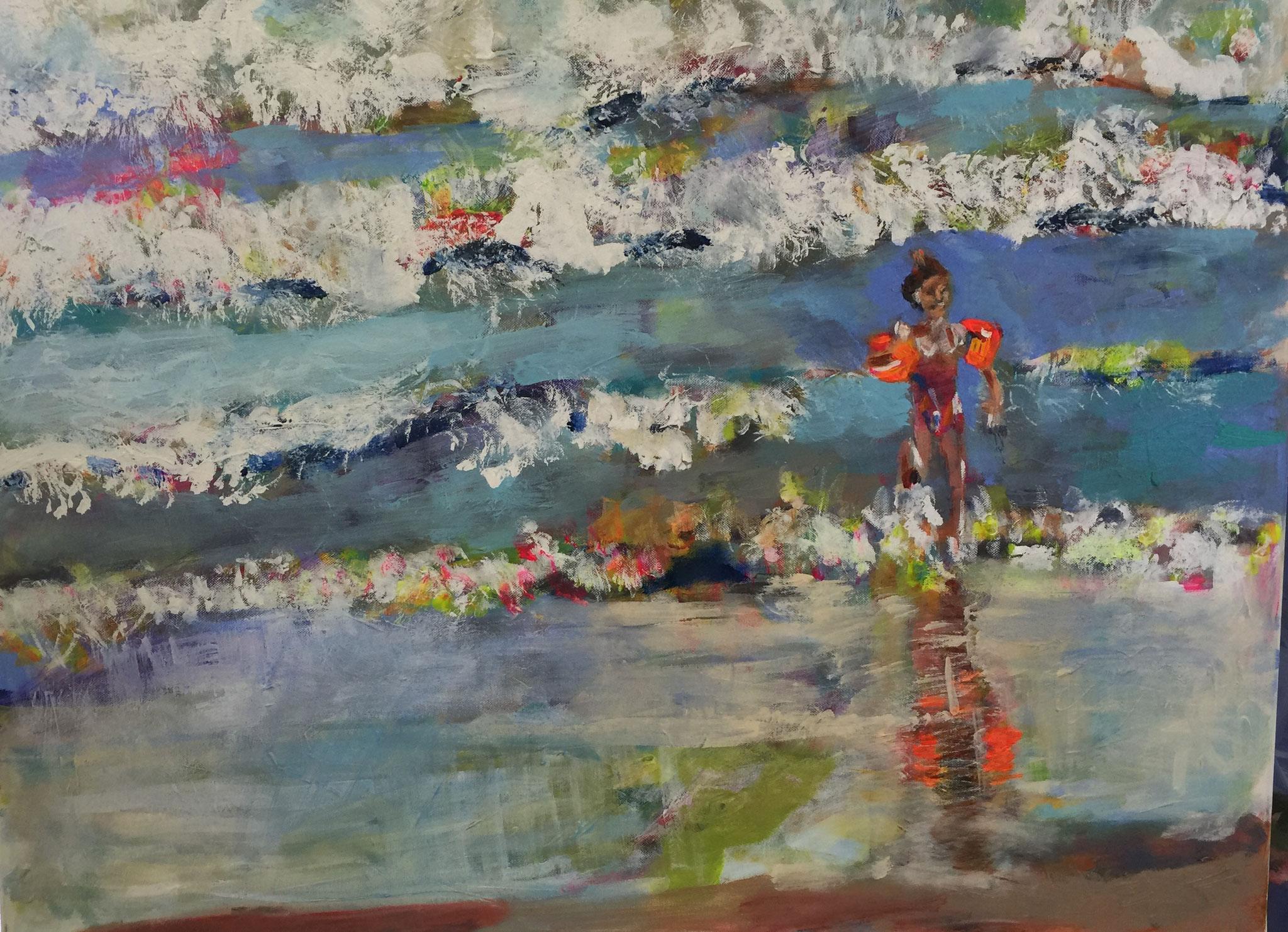 Wasser 2, 60x80  acrylic on canvas