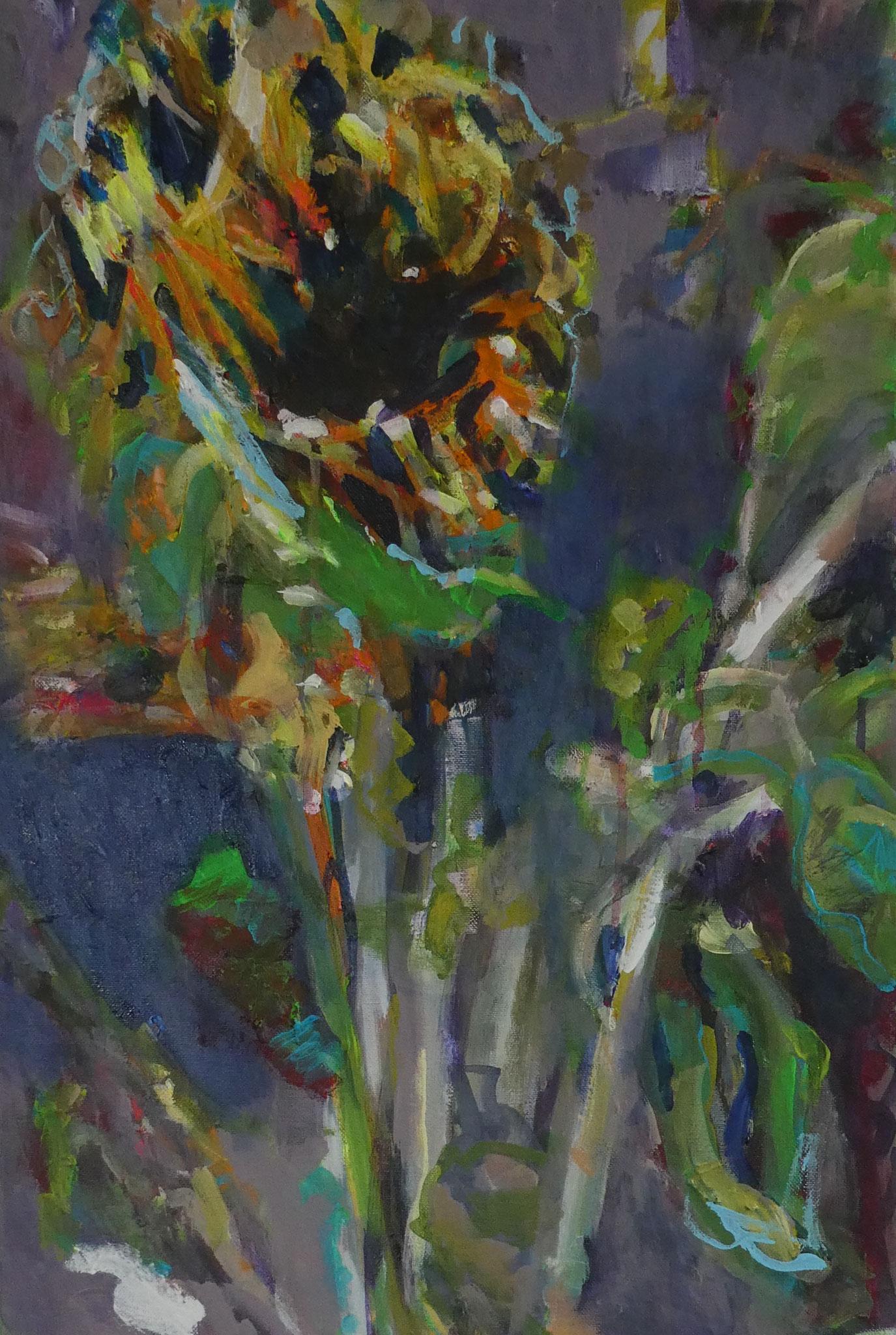 Sonnenblume 4,  60x40,  acrylic on canvas