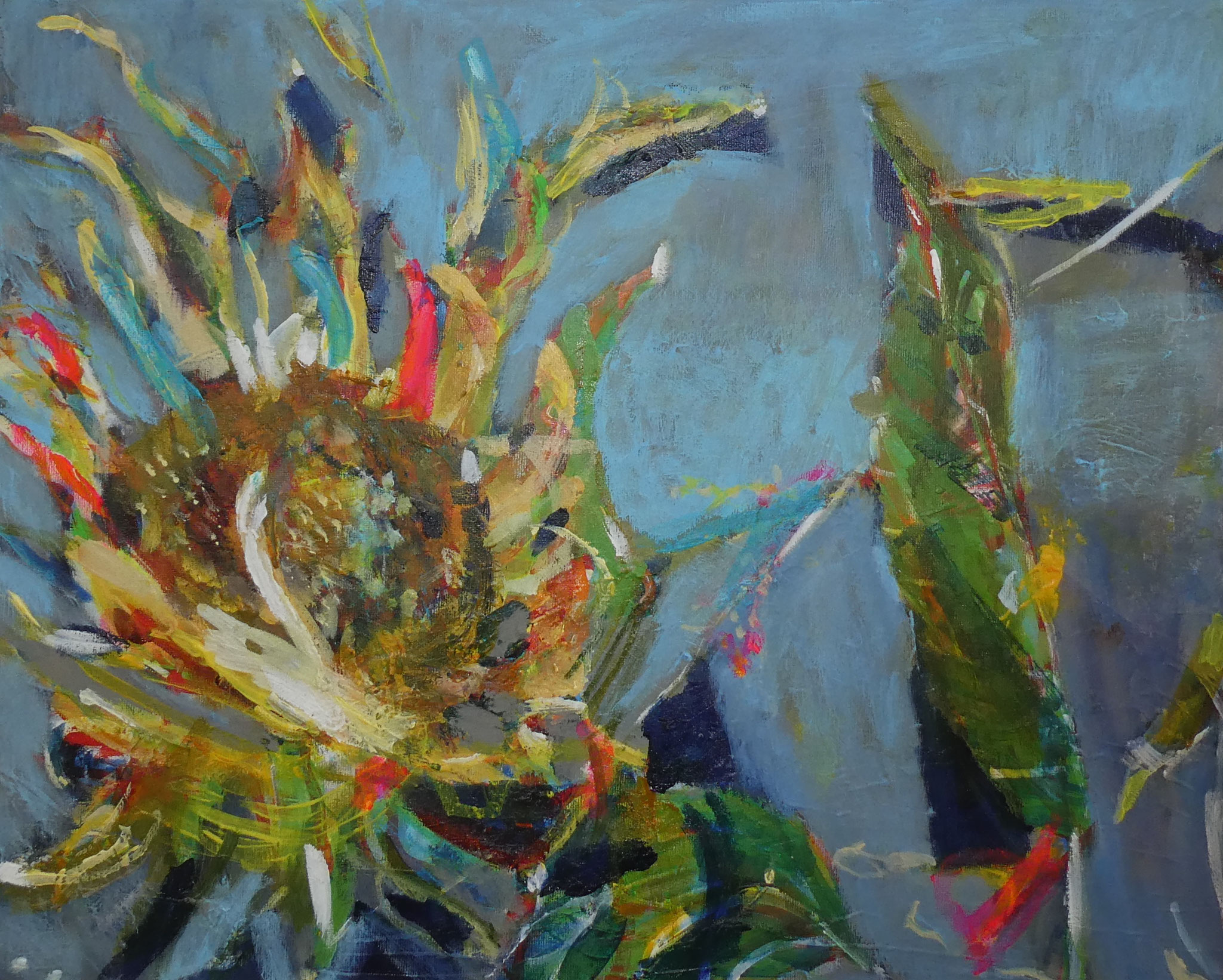 Sonnenblume 2,  40x50,  acrylic on canvas