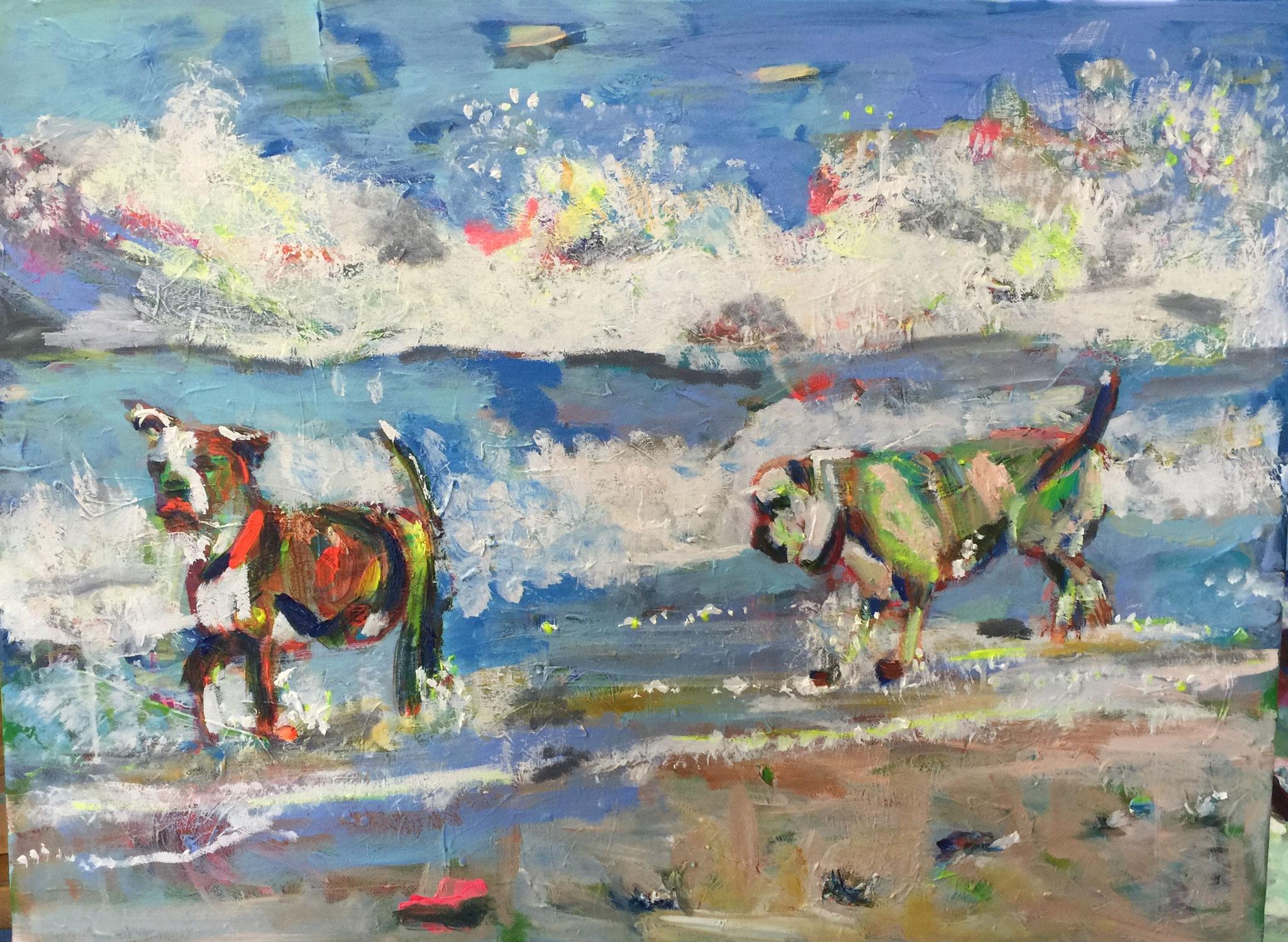 Wasser 3, 60x80 acrylic on canvas