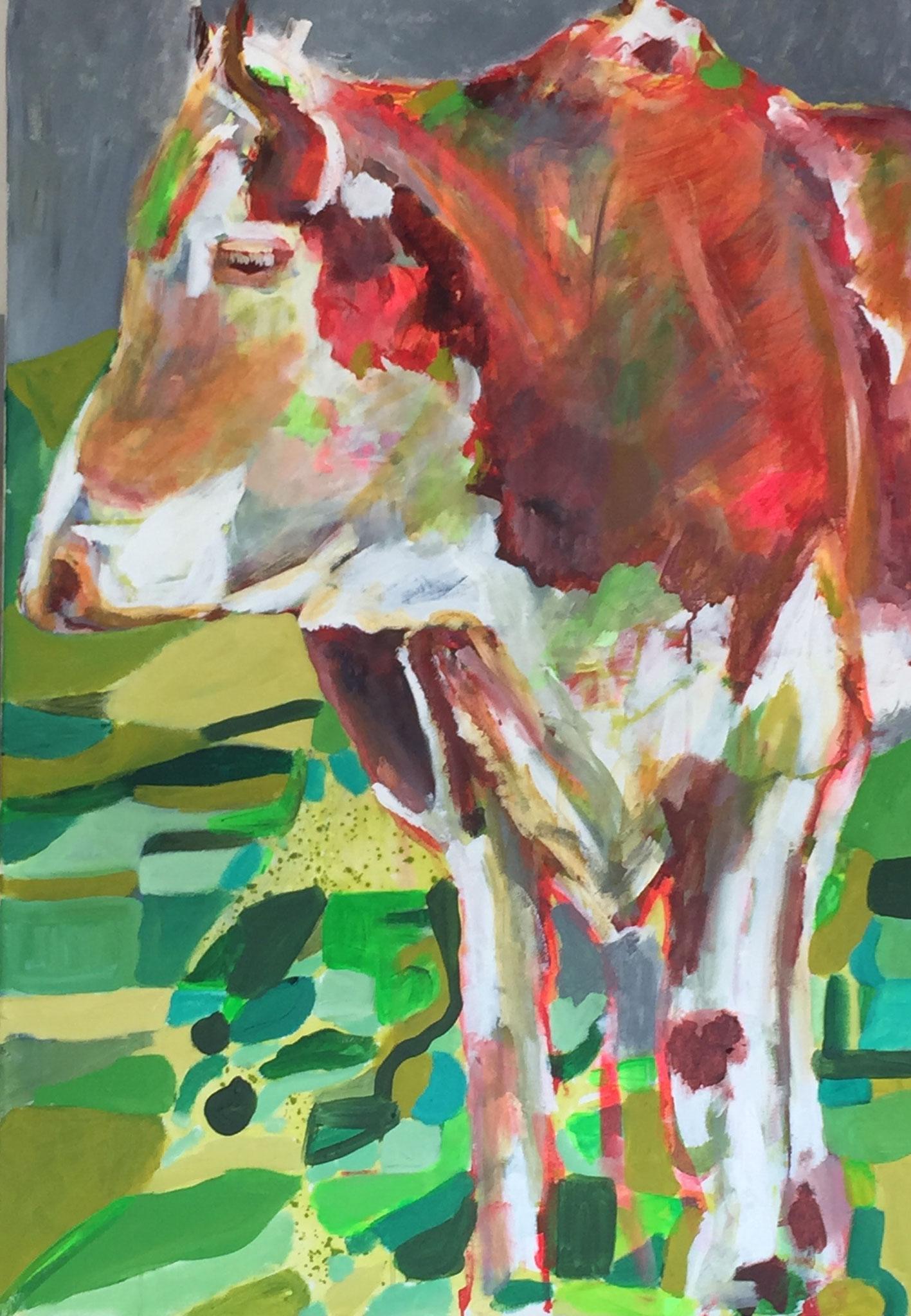 Gehörnt 7, 100x70, acrylic on canvas