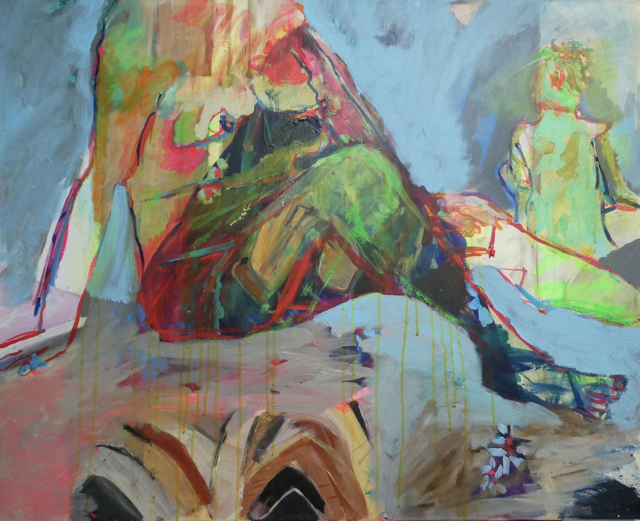 Akt 2, 80x100, acrylic on canvas