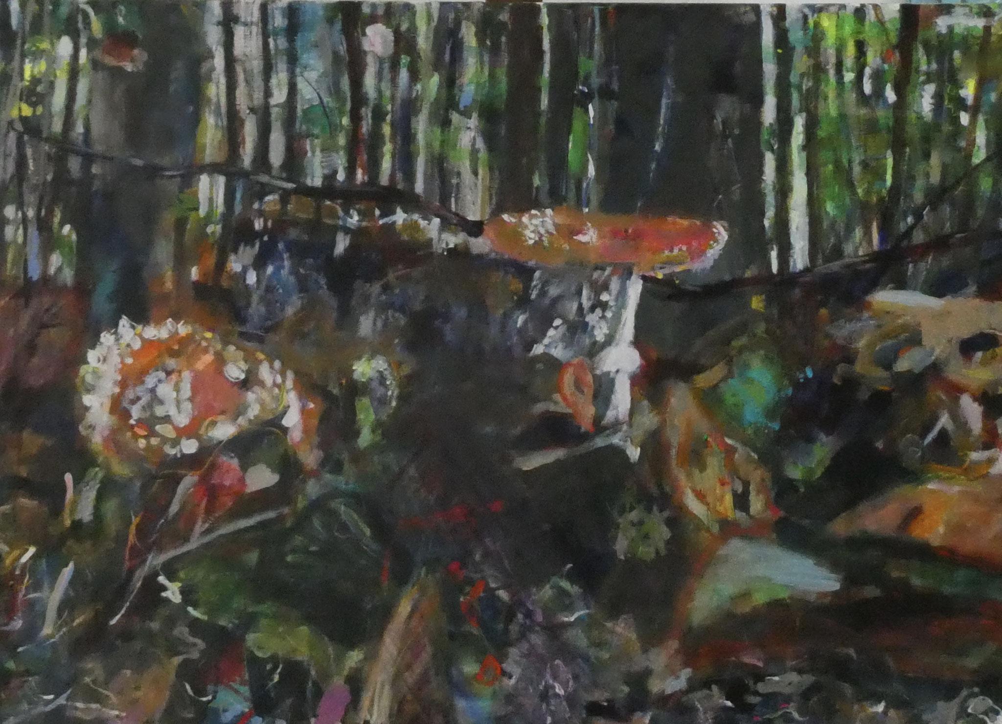 Wald 1,  80x115,  acrylic on canvas